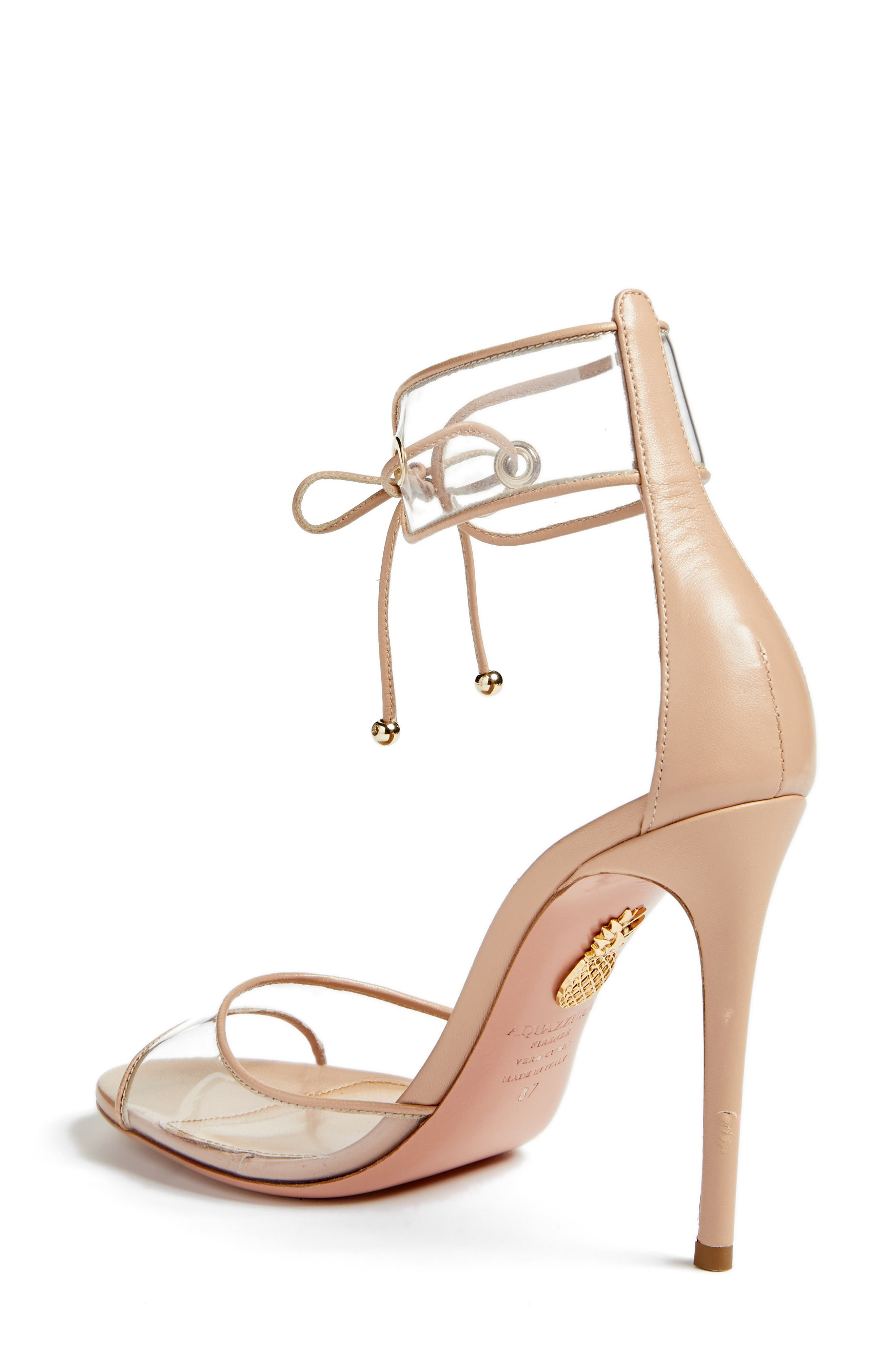 Optic Clear Ankle Tie Sandal,                             Alternate thumbnail 2, color,                             Powder Pink