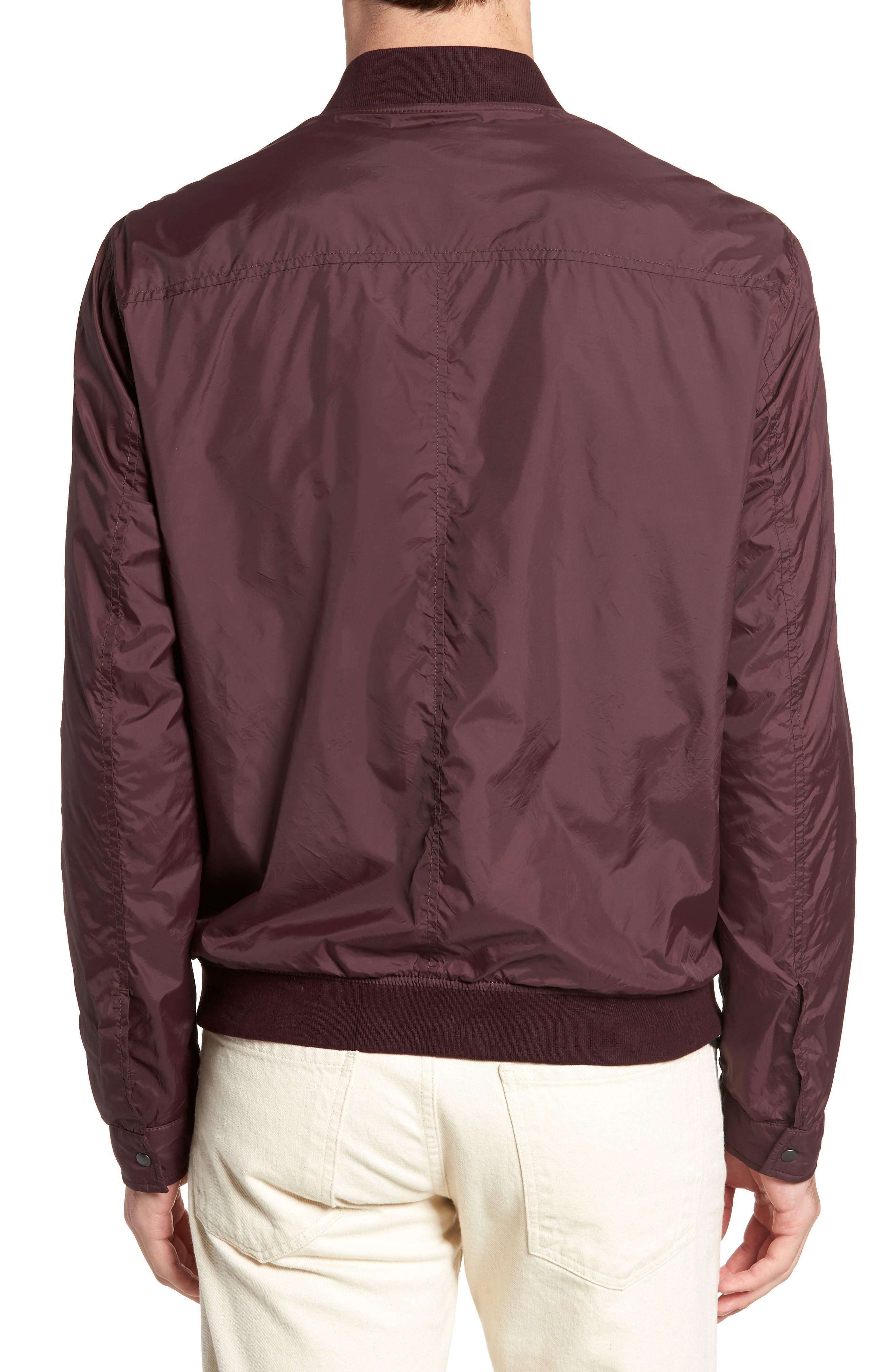 Slim Fit Bomber Jacket,                             Alternate thumbnail 2, color,                             Merlot