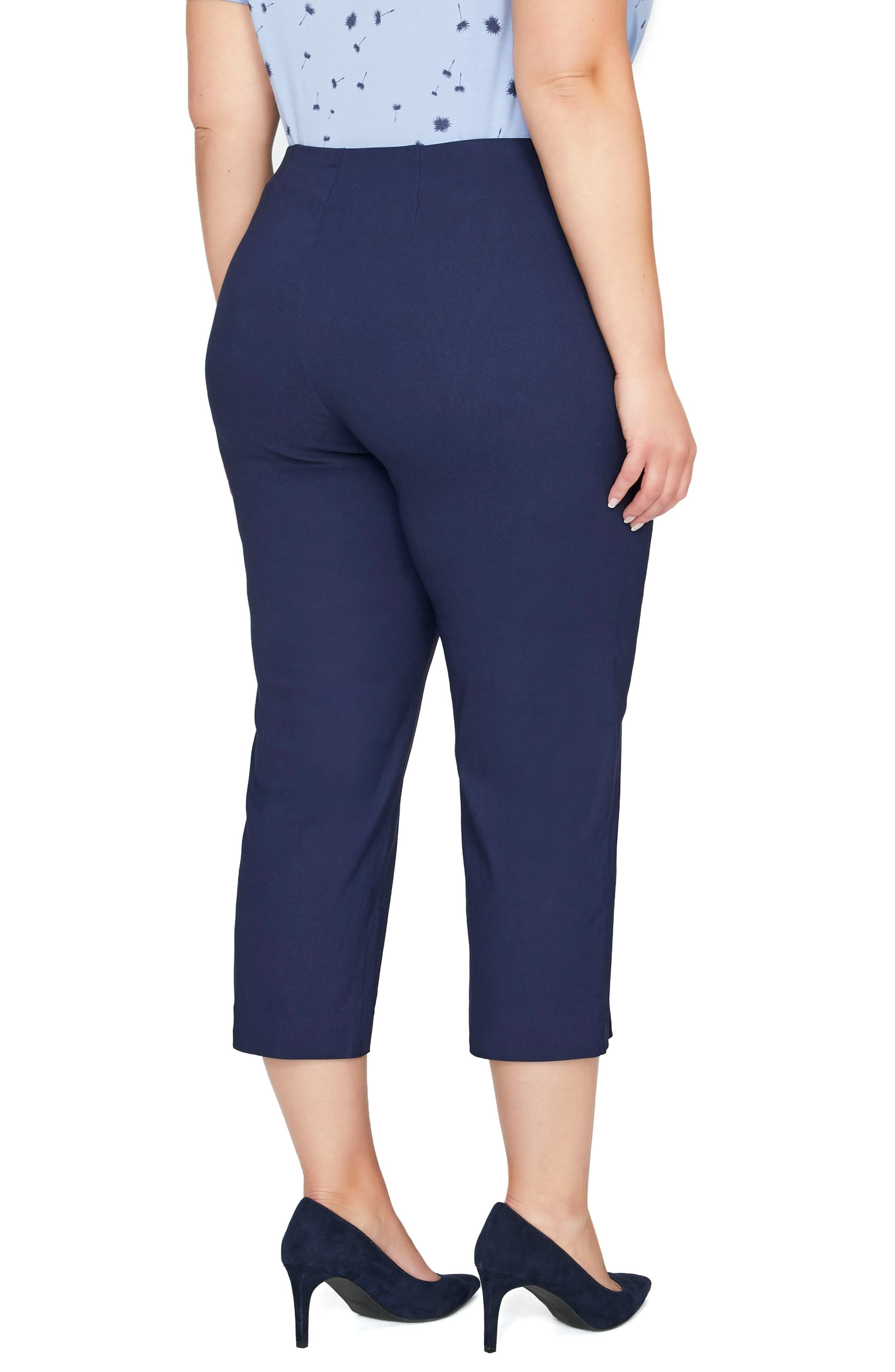 Alexa Crop Pants,                             Alternate thumbnail 2, color,                             Maritime Blue