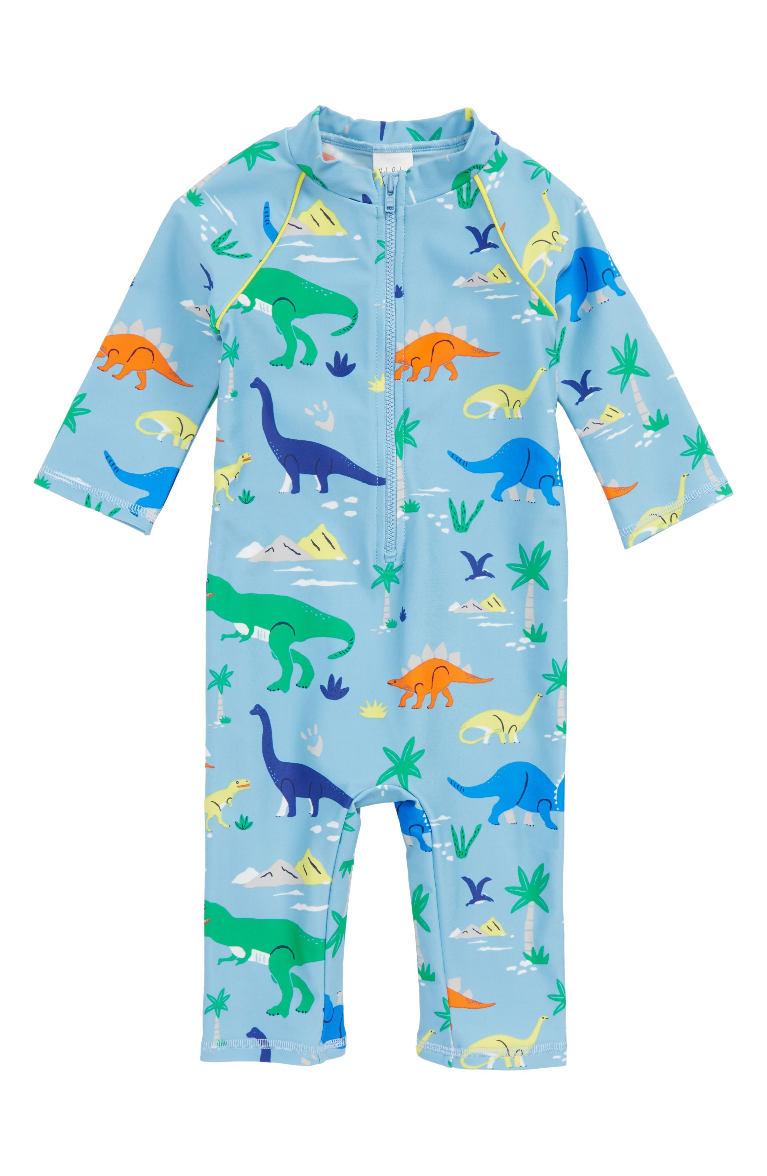 Animal Surf One-Piece Rashguard Swimsuit,                         Main,                         color, Grotto Blue