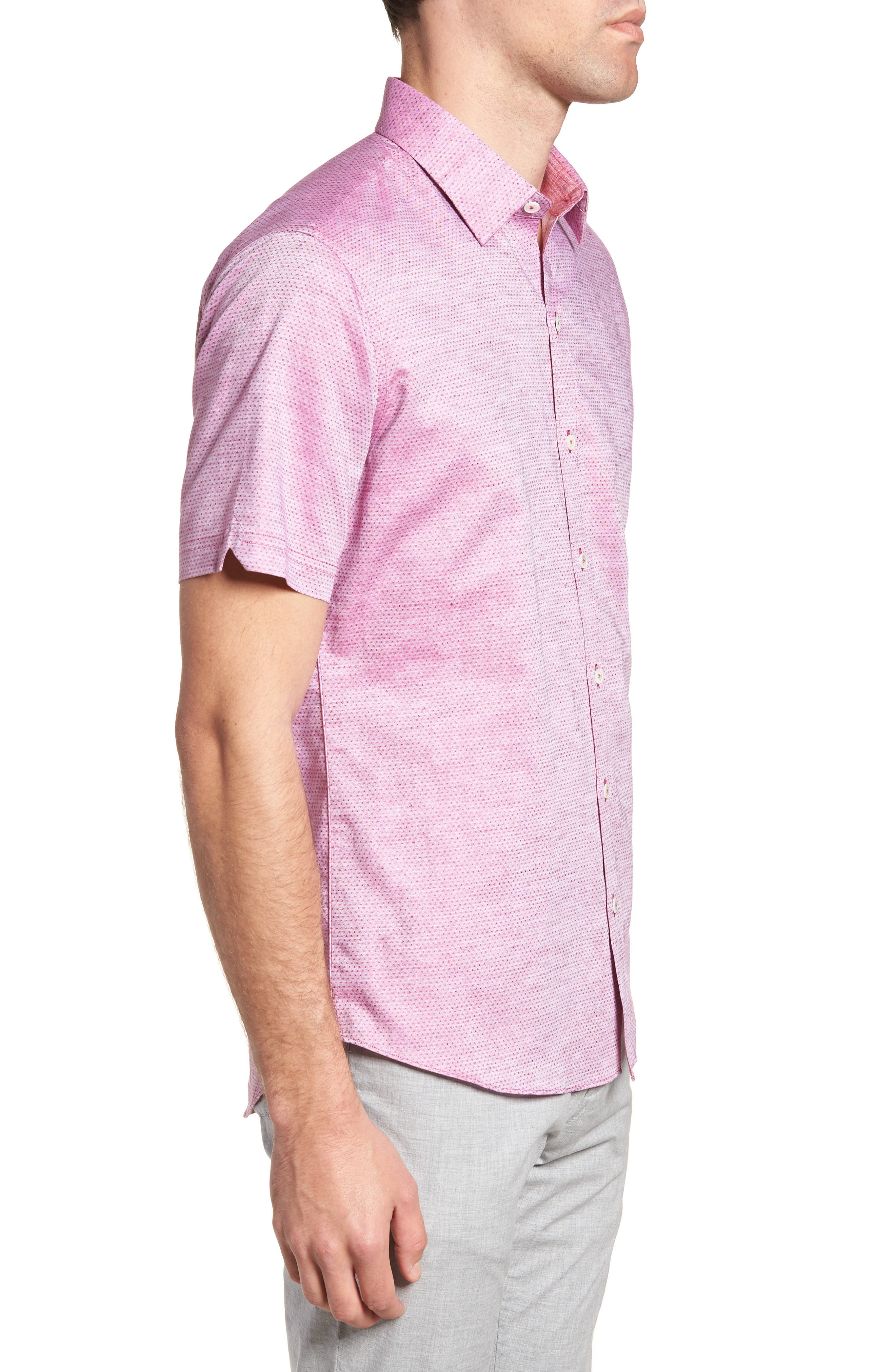 Wilcox Regular Fit Dobby Sport Shirt,                             Alternate thumbnail 4, color,                             Pink