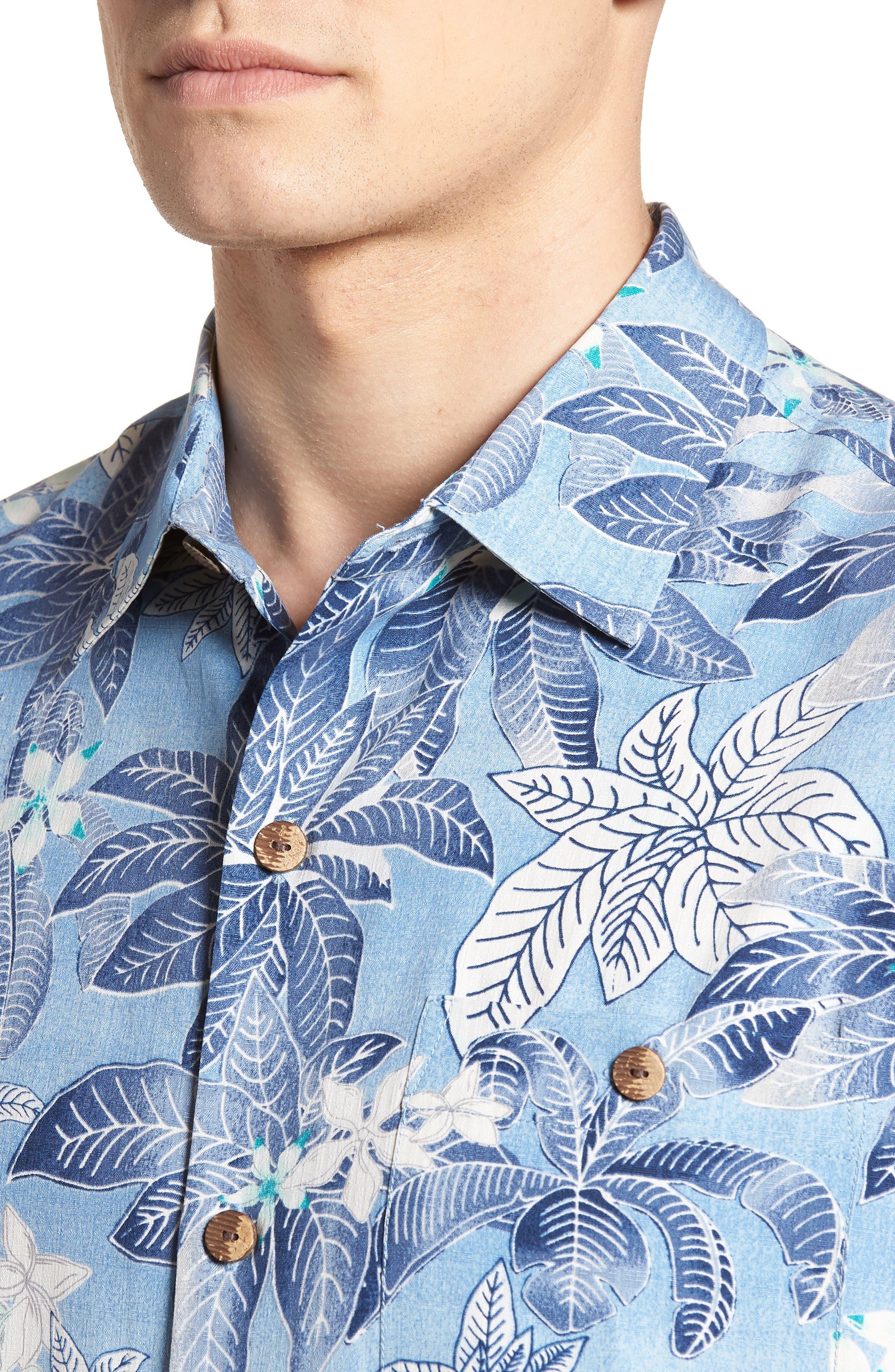 El Medano Jungle Silk Camp Shirt,                             Alternate thumbnail 2, color,                             Blue Aster