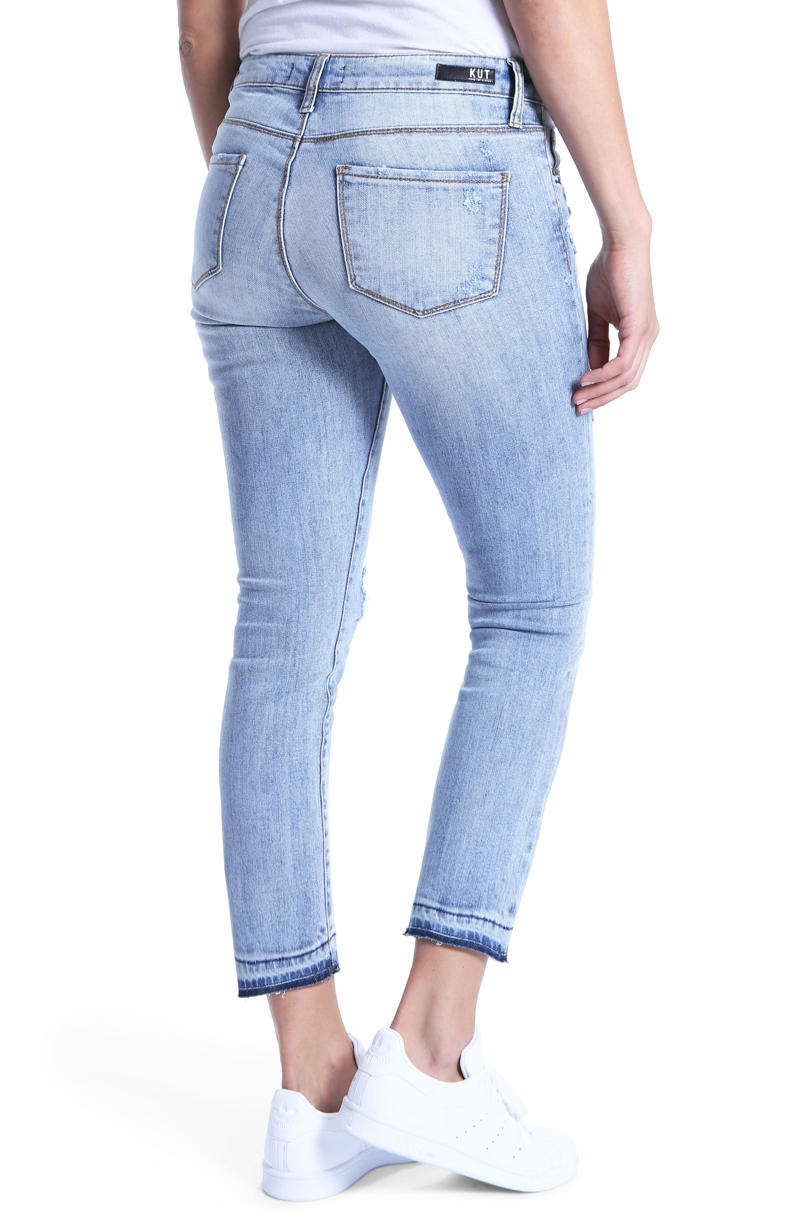 Reese Ripped Ankle Jeans,                             Alternate thumbnail 2, color,                             Announce