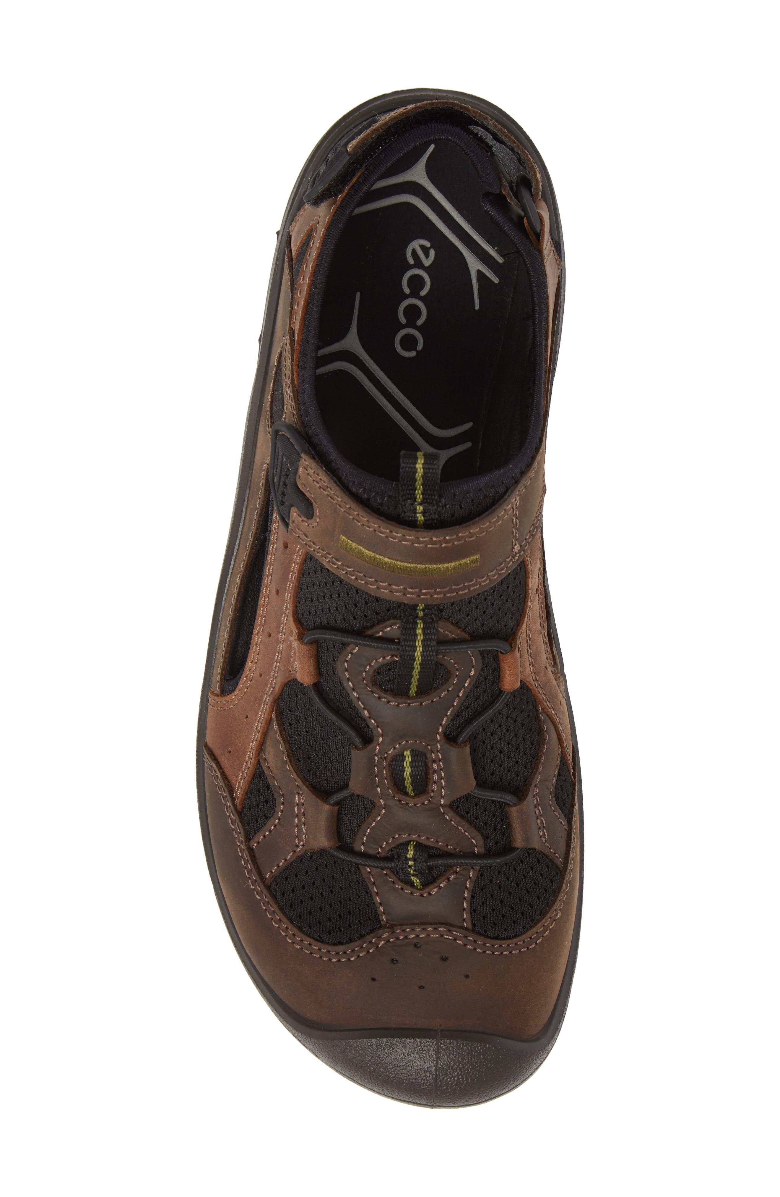 BIOM Delta Fisherman Sandal,                             Alternate thumbnail 5, color,                             Coffee Leather