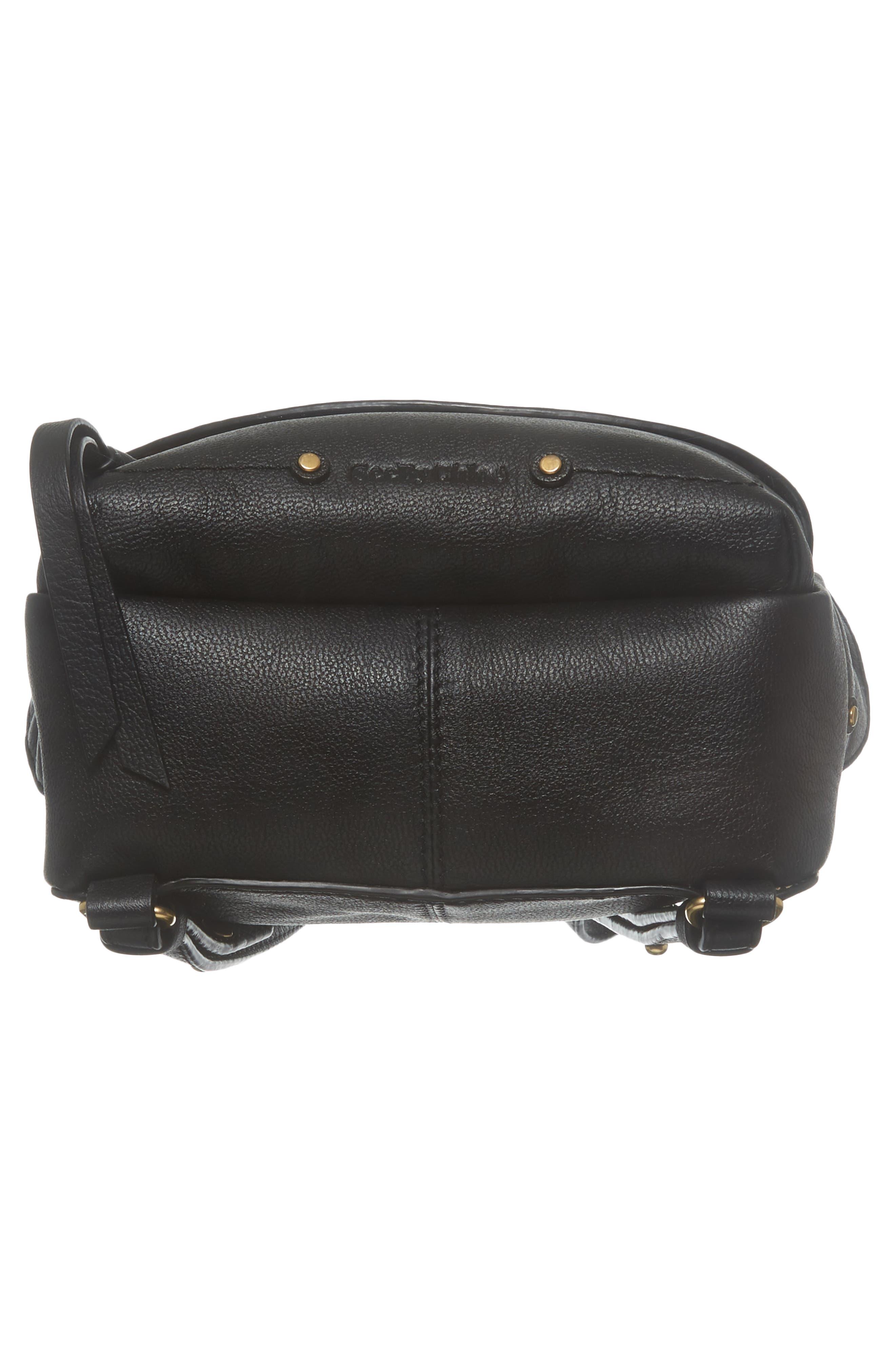 Mini Mino Leather Backpack,                             Alternate thumbnail 7, color,                             Black