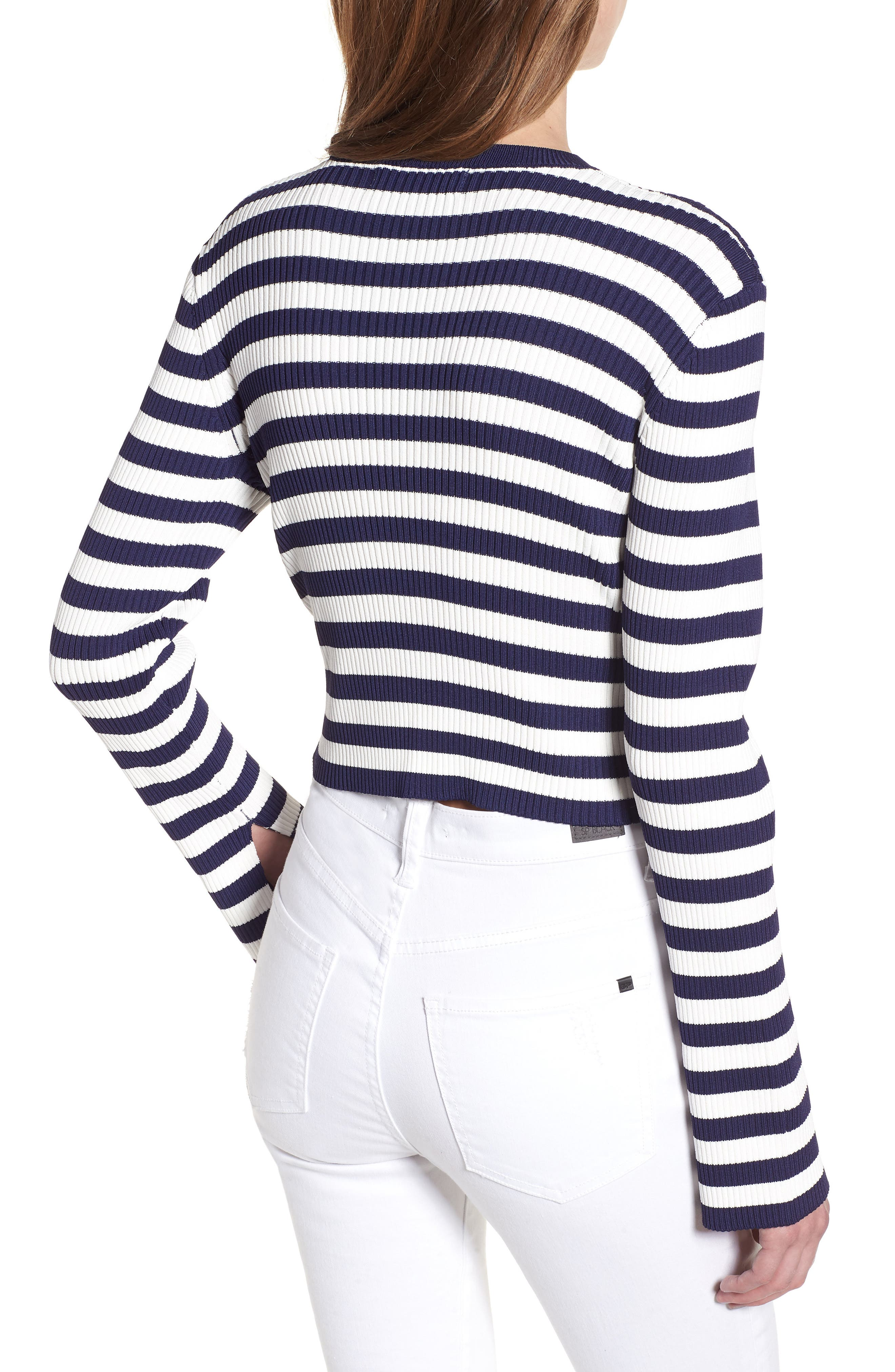 Perry Crop Top,                             Alternate thumbnail 2, color,                             Stripe
