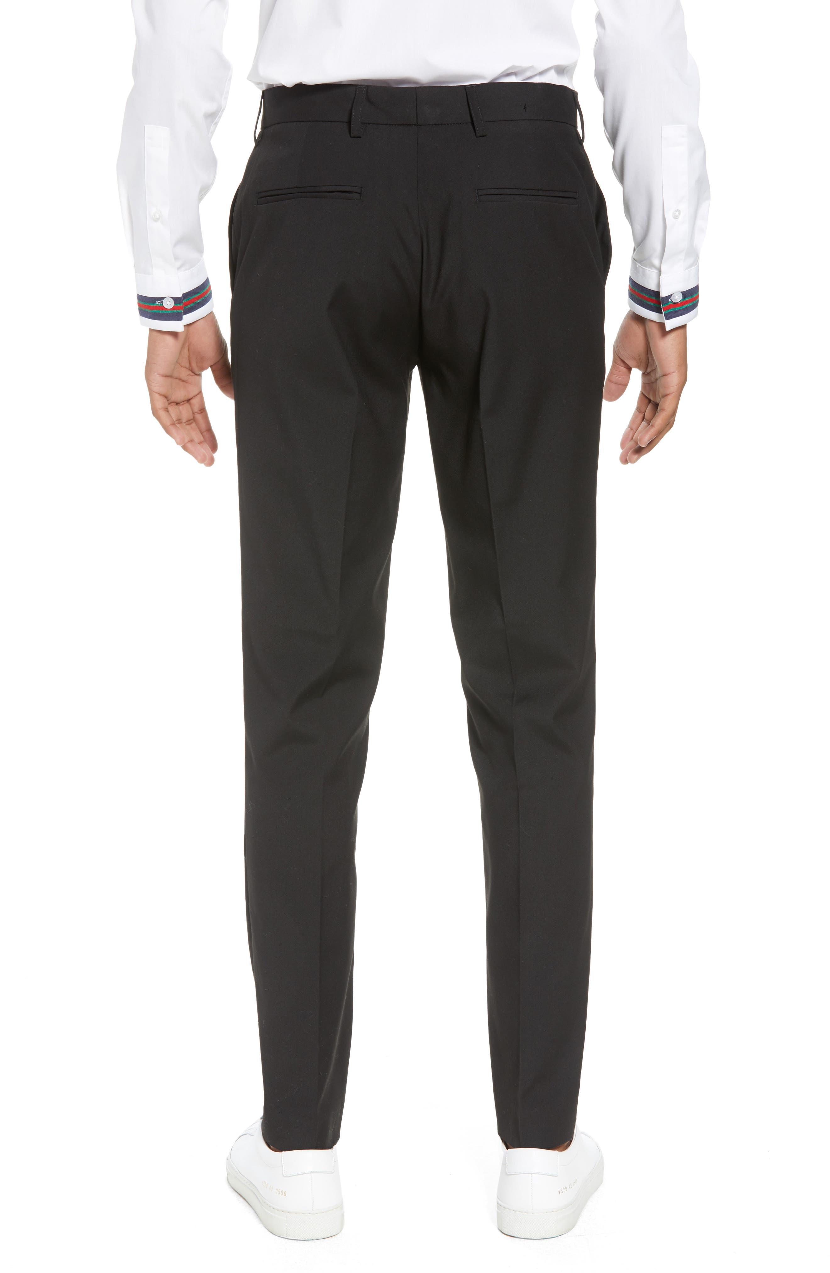 Skinny Fit Suit Pants,                             Alternate thumbnail 2, color,                             Black