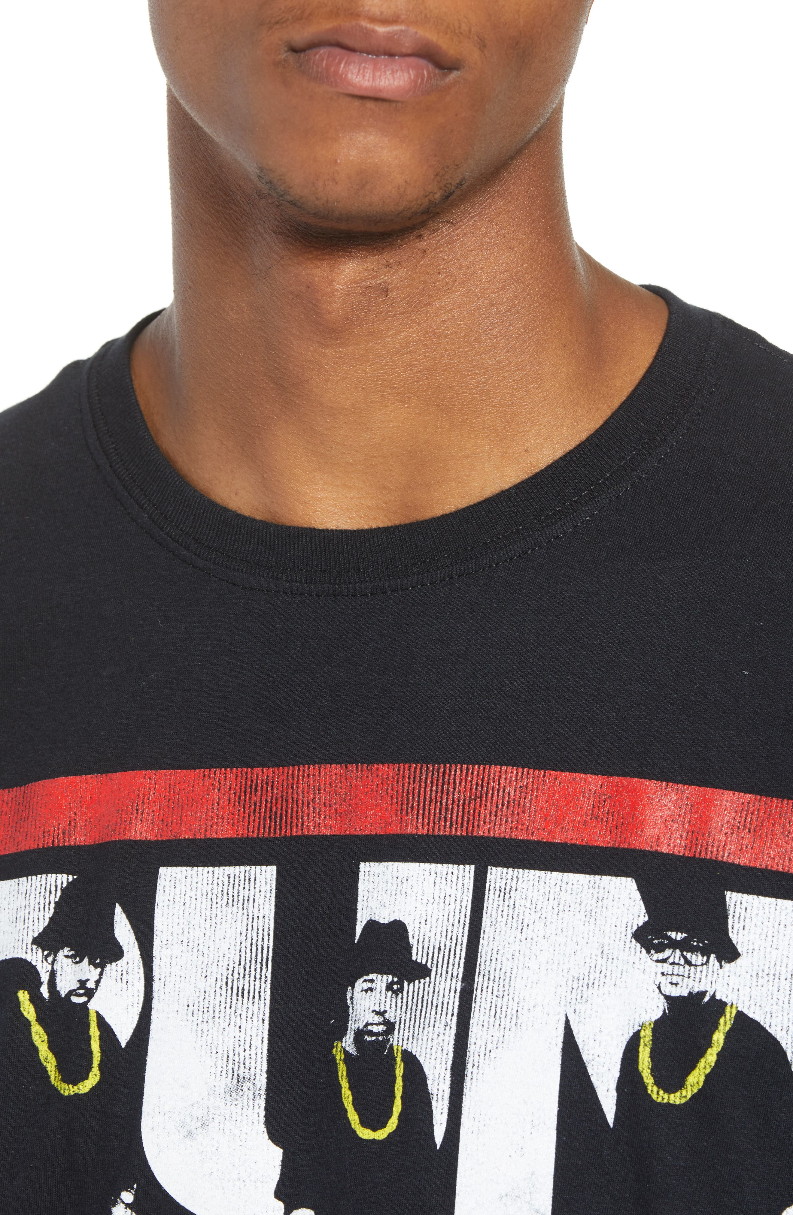 Run-DMC T-Shirt,                             Alternate thumbnail 4, color,                             Black Tee Run Dmc