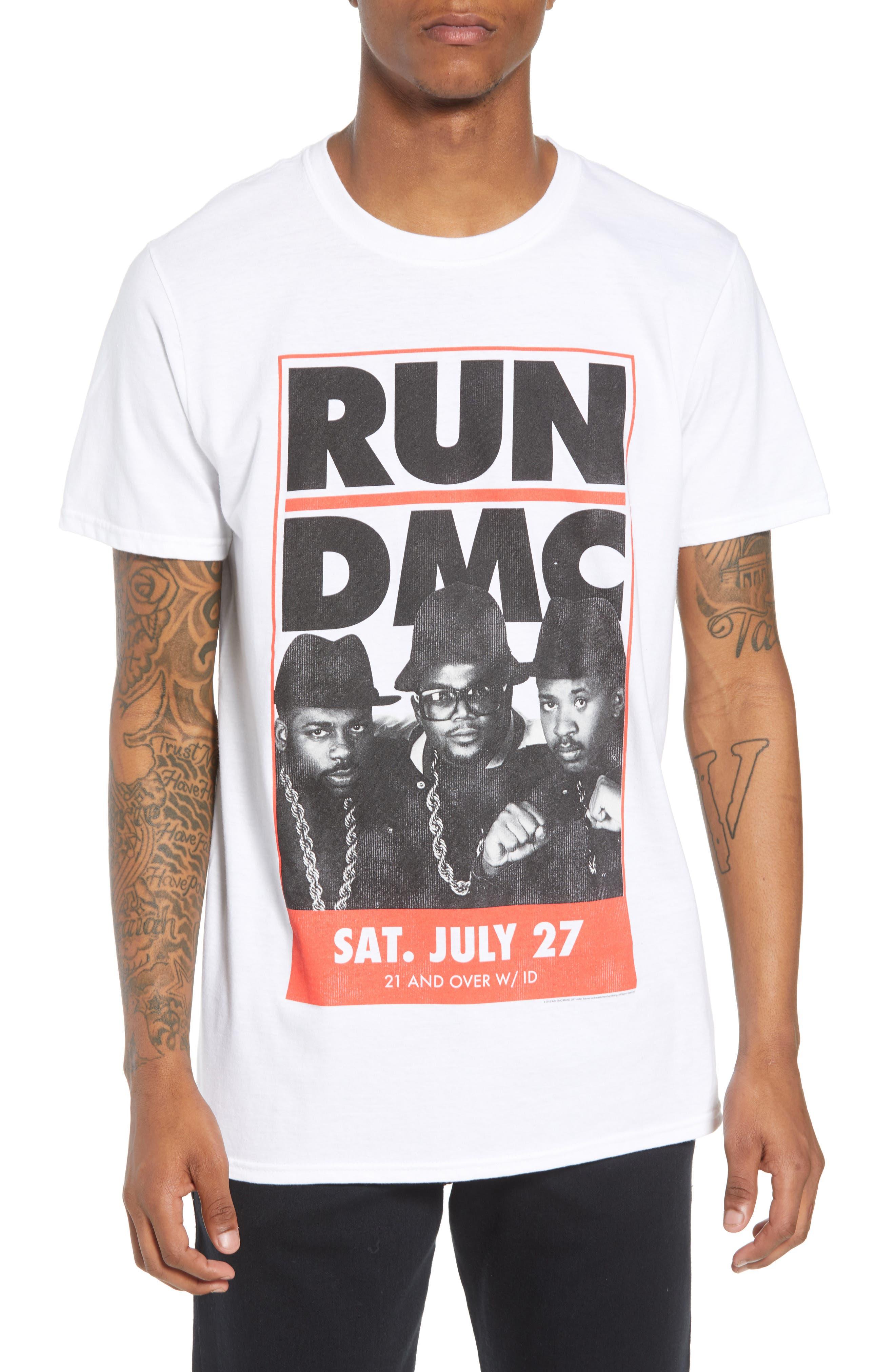 Run-DMC T-Shirt,                             Main thumbnail 1, color,                             White Tee Run Dmc