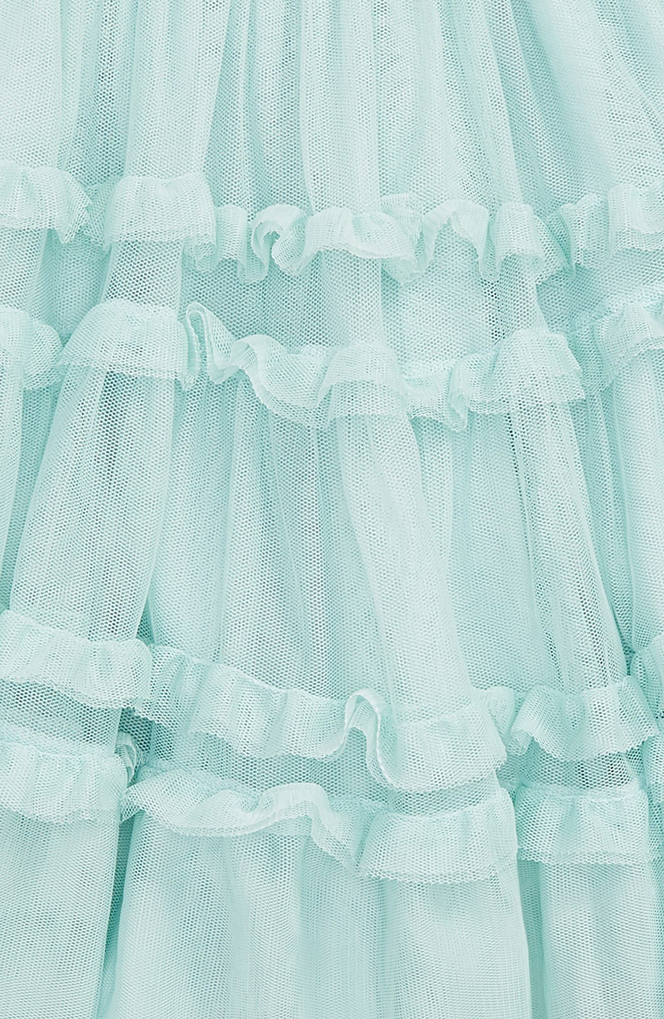 Ruffle Tulle Skirt,                             Alternate thumbnail 2, color,                             Bluazure Mist Blue