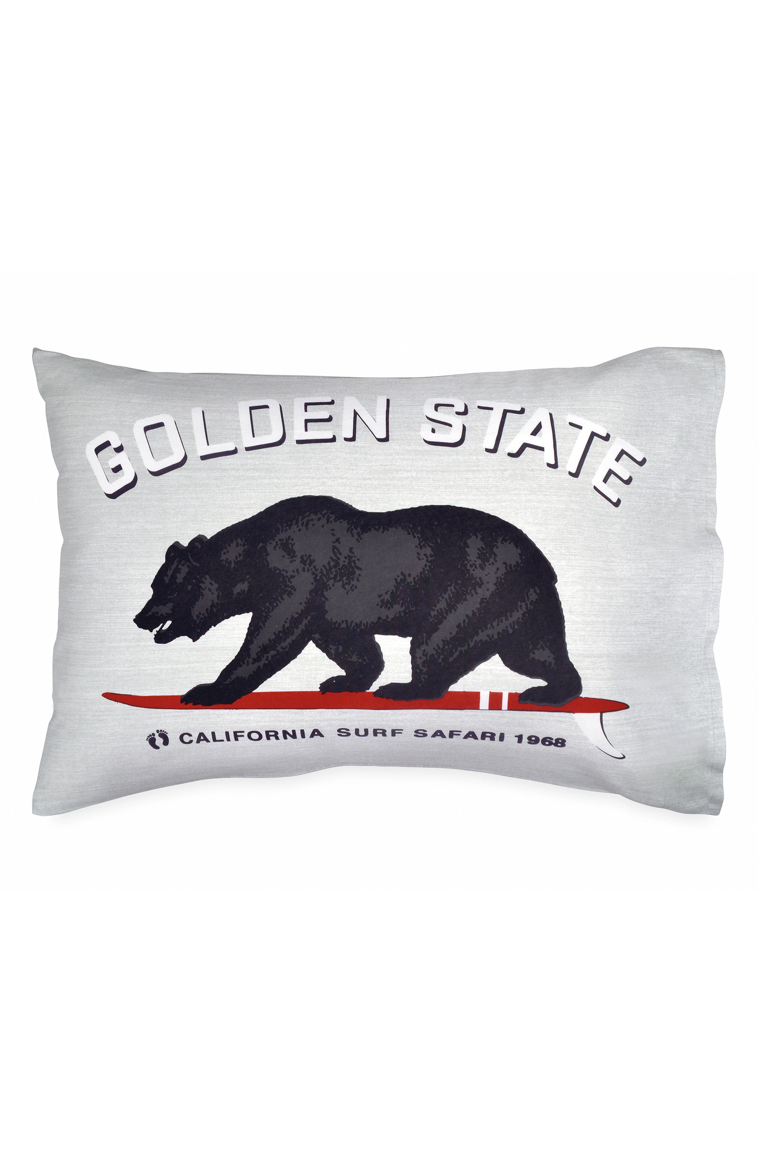 Golden State Pillowcase,                         Main,                         color, Grey