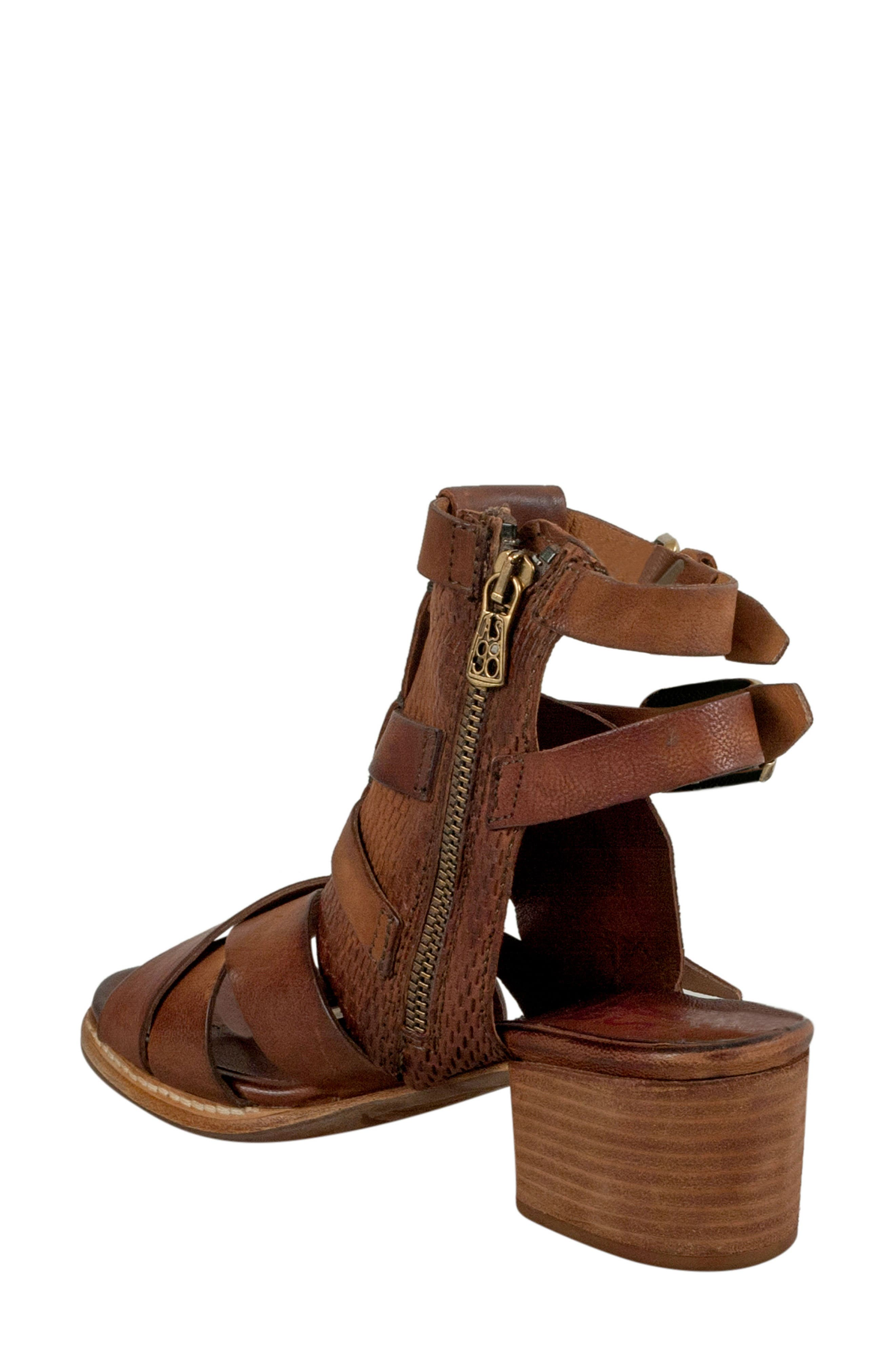 Pennie Gladiator Sandal,                             Alternate thumbnail 2, color,                             Cognac