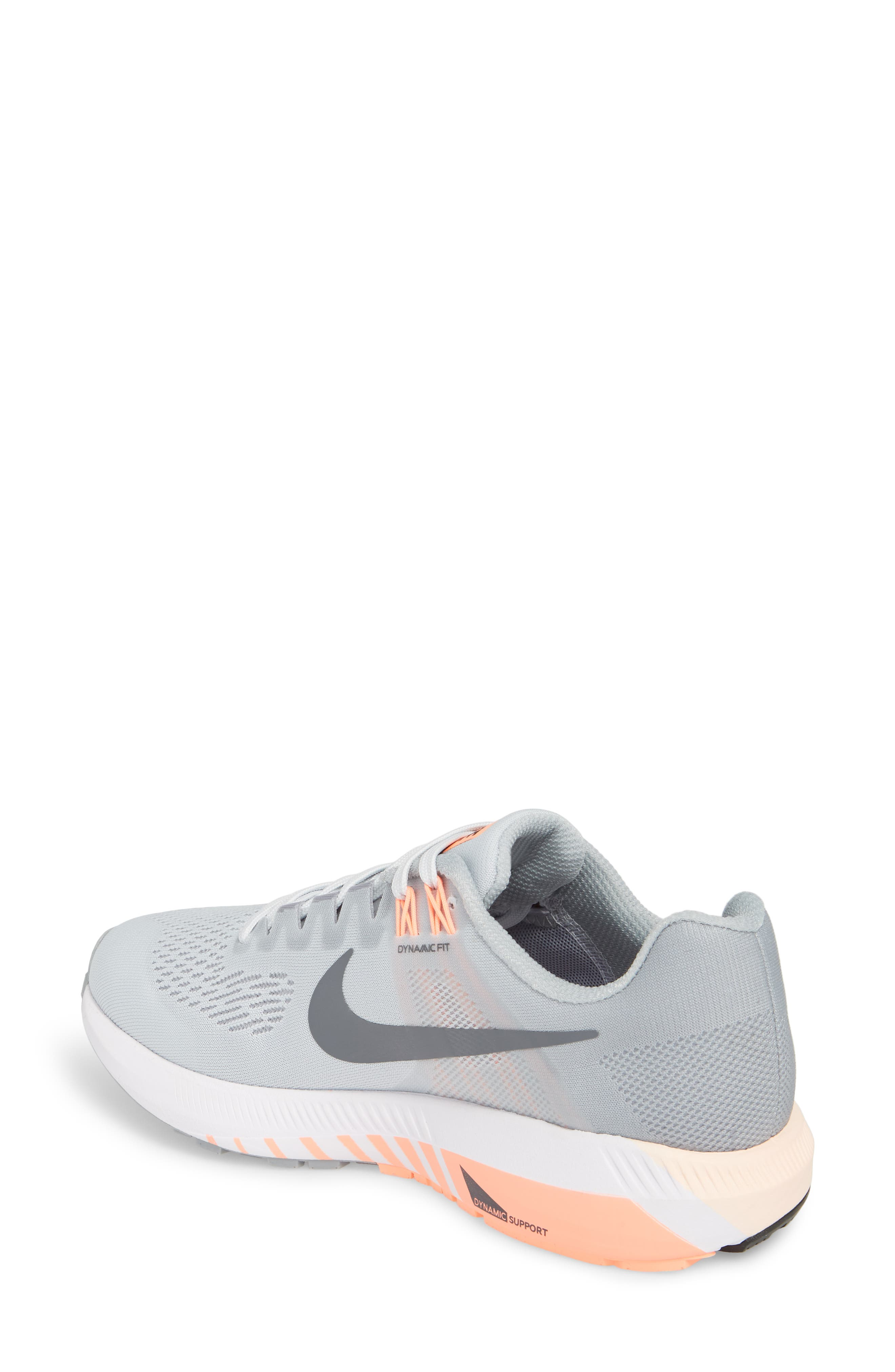 Air Zoom Structure 21 Running Shoe,                             Alternate thumbnail 2, color,                             Wolf Grey/ Dark Grey