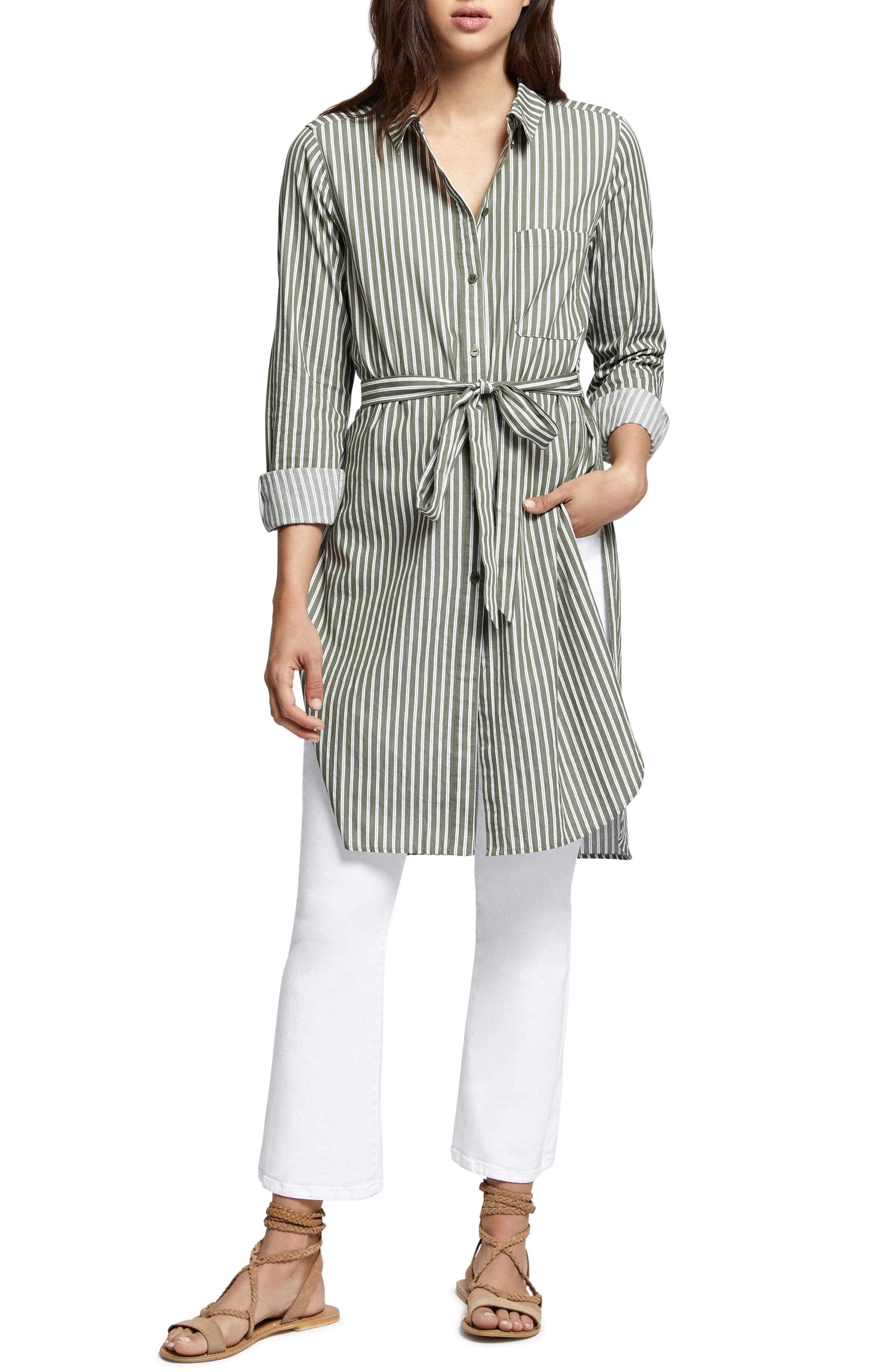 Teagan Maxi Shirt,                         Main,                         color, Cadet Stripe
