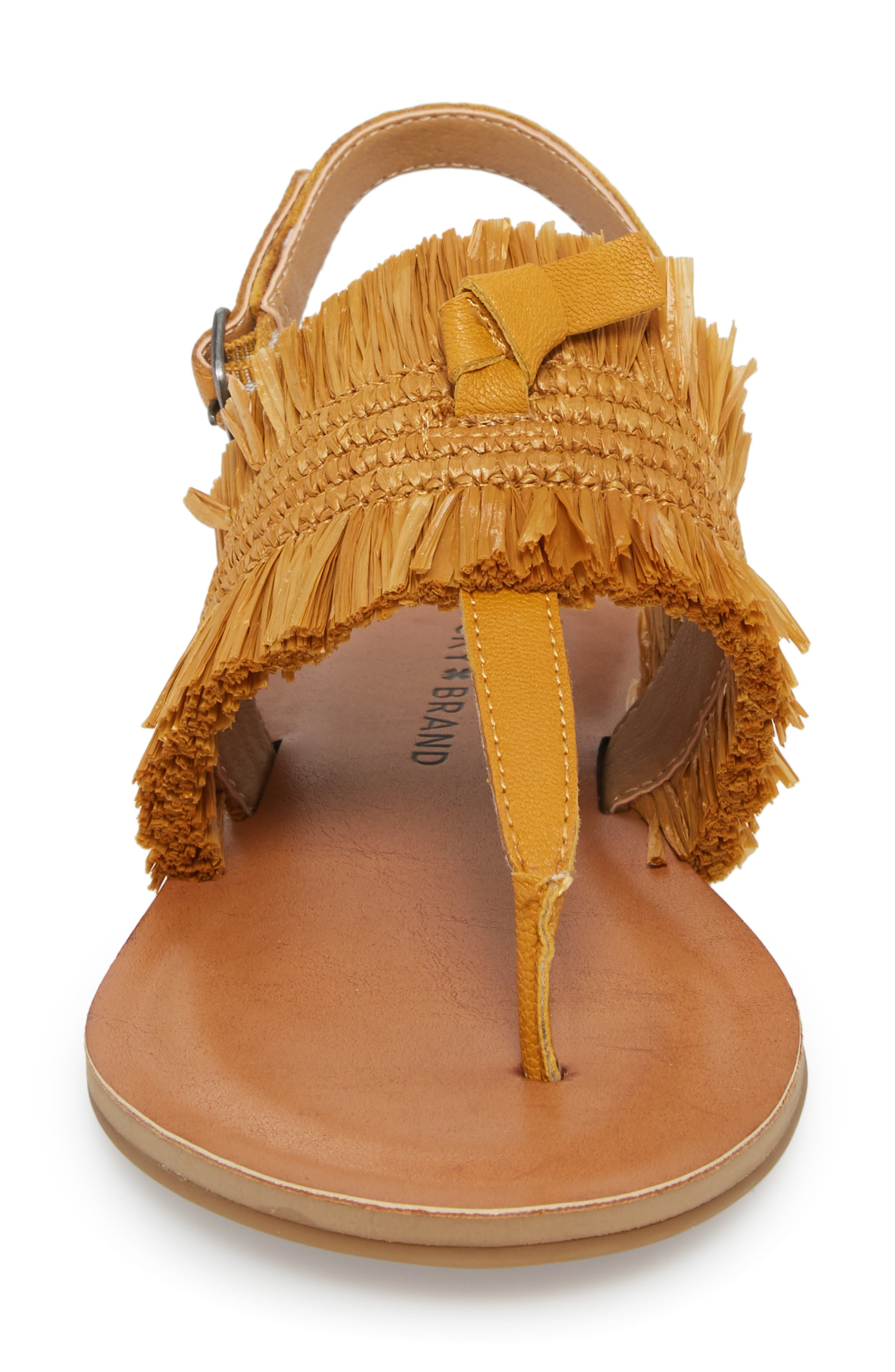Akerlei Sandal,                             Alternate thumbnail 4, color,                             Saffron Leather