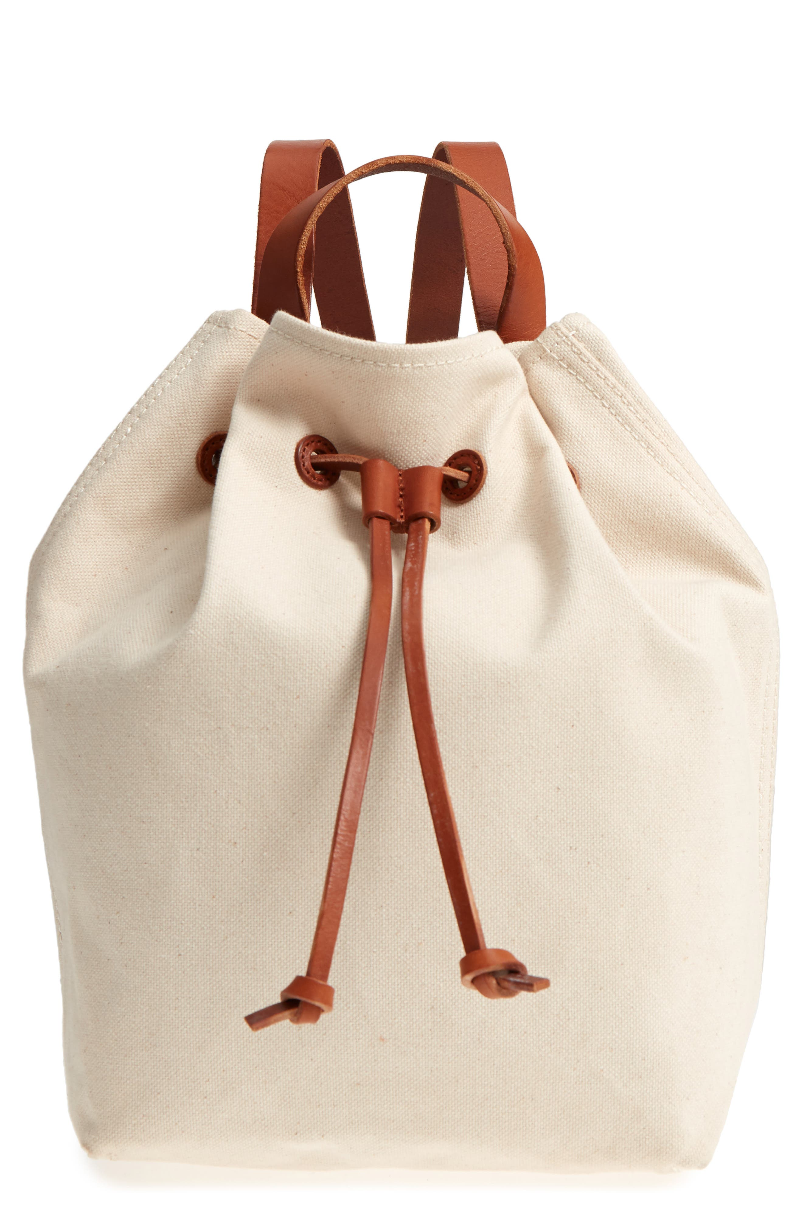 SOMERSET CANVAS BACKPACK - IVORY