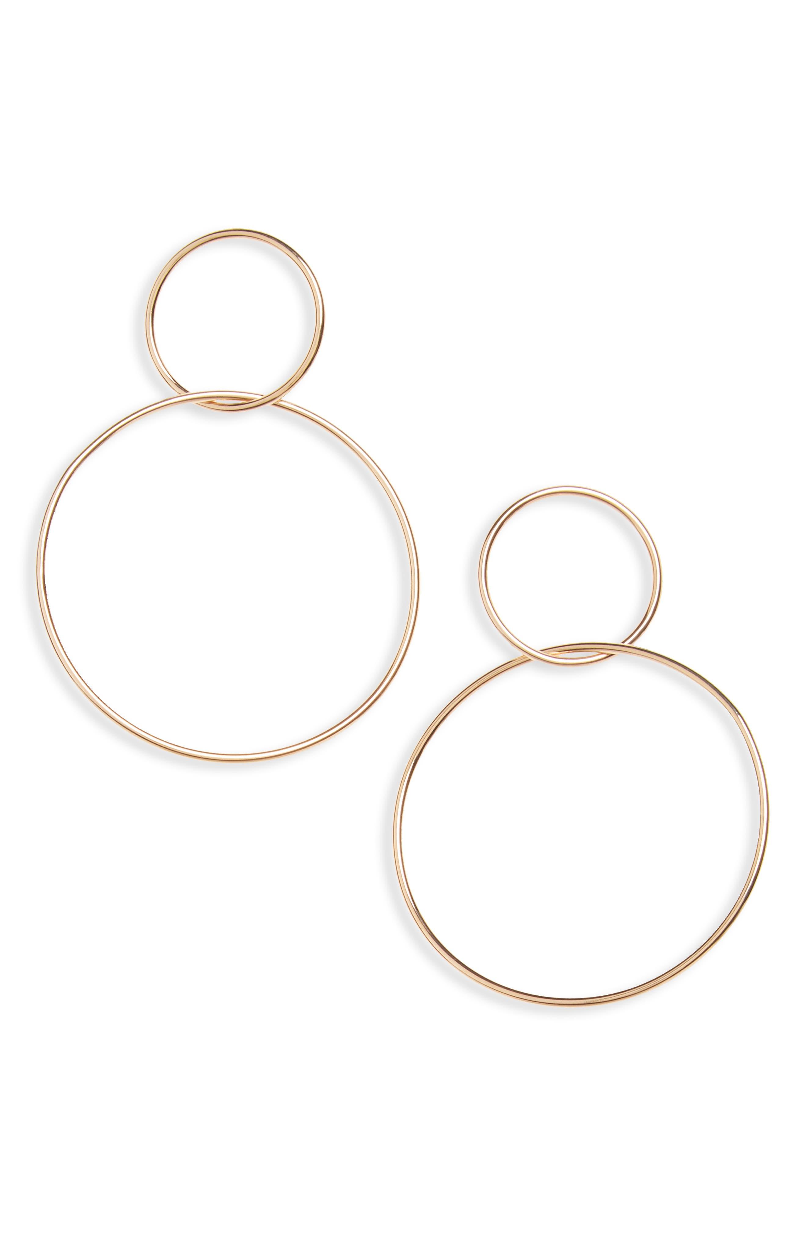 Floyd Circle Earrings,                         Main,                         color, Gold