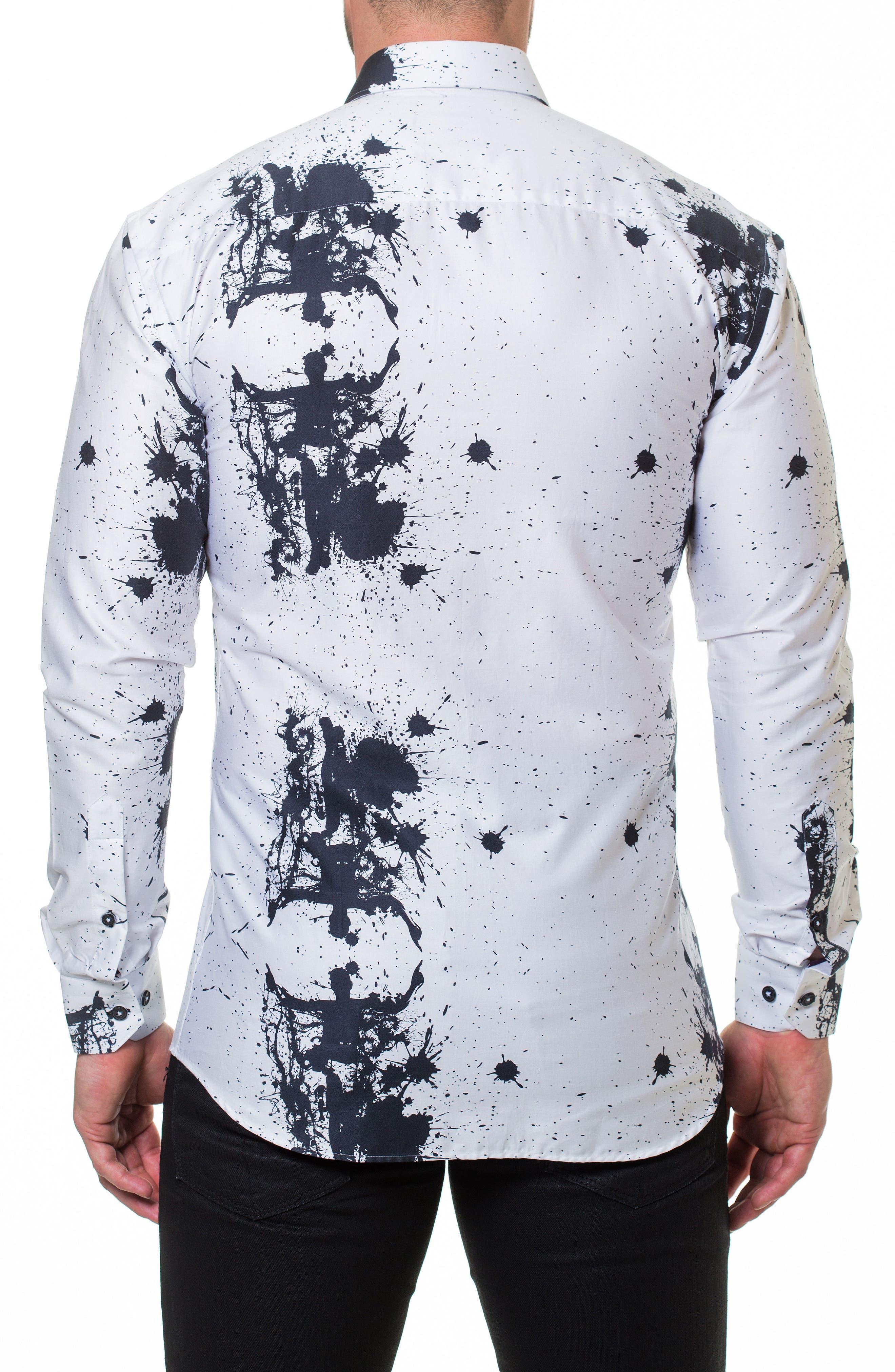 Luxor Accident Slim Fit Sport Shirt,                             Alternate thumbnail 2, color,                             White