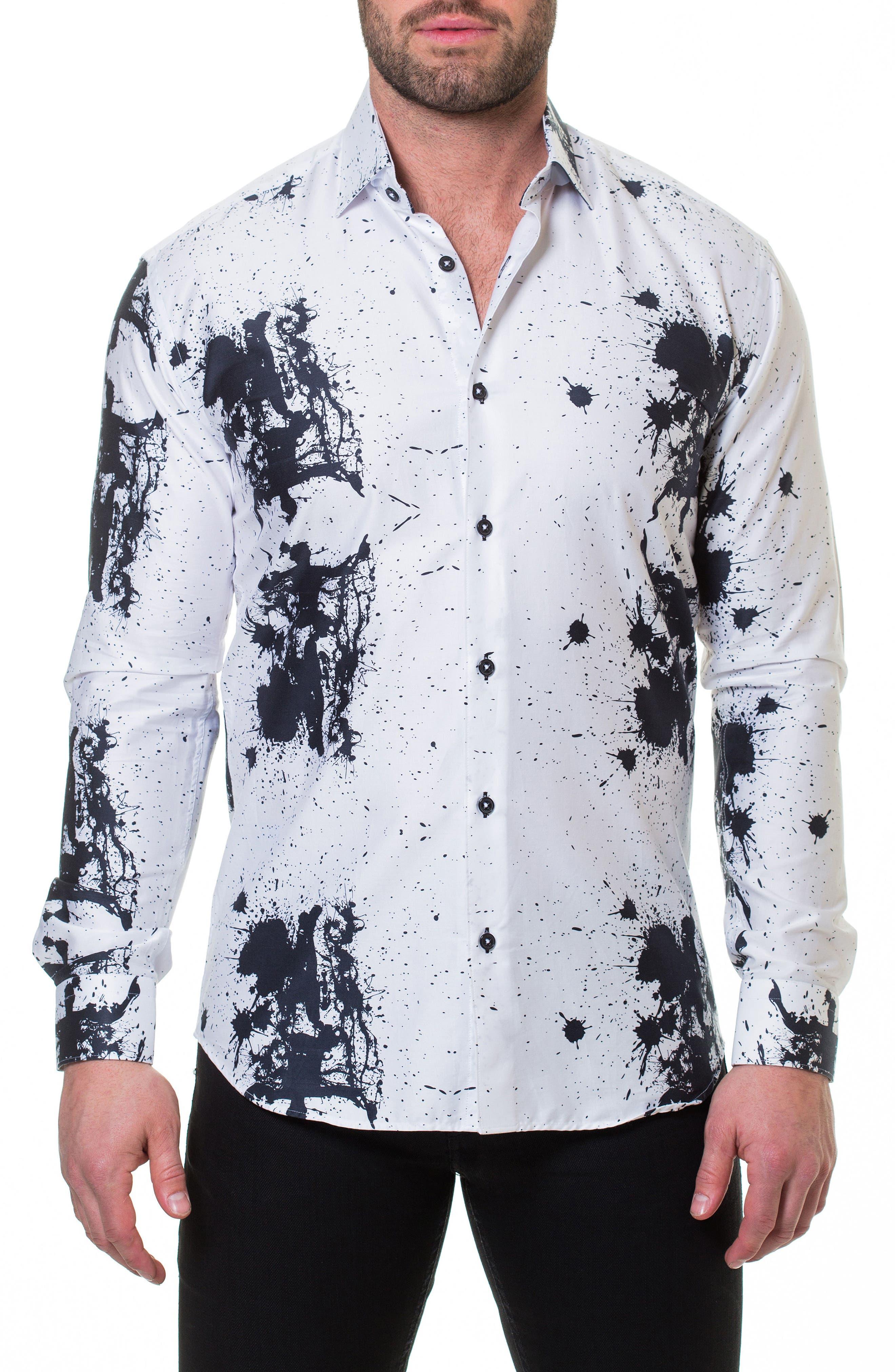 Luxor Accident Slim Fit Sport Shirt,                             Alternate thumbnail 3, color,                             White