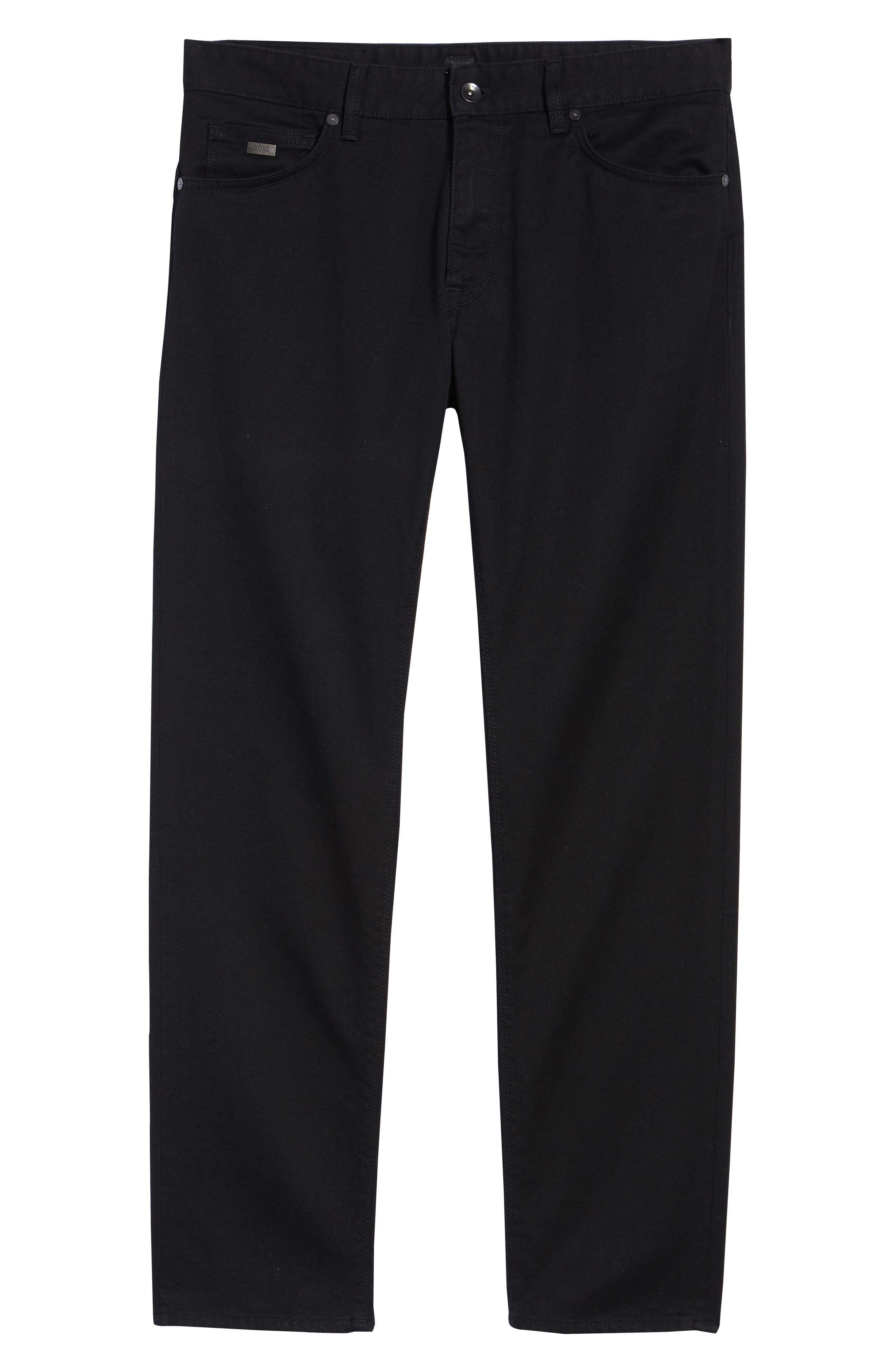 Maine Straight Leg Jeans,                             Alternate thumbnail 6, color,                             Black