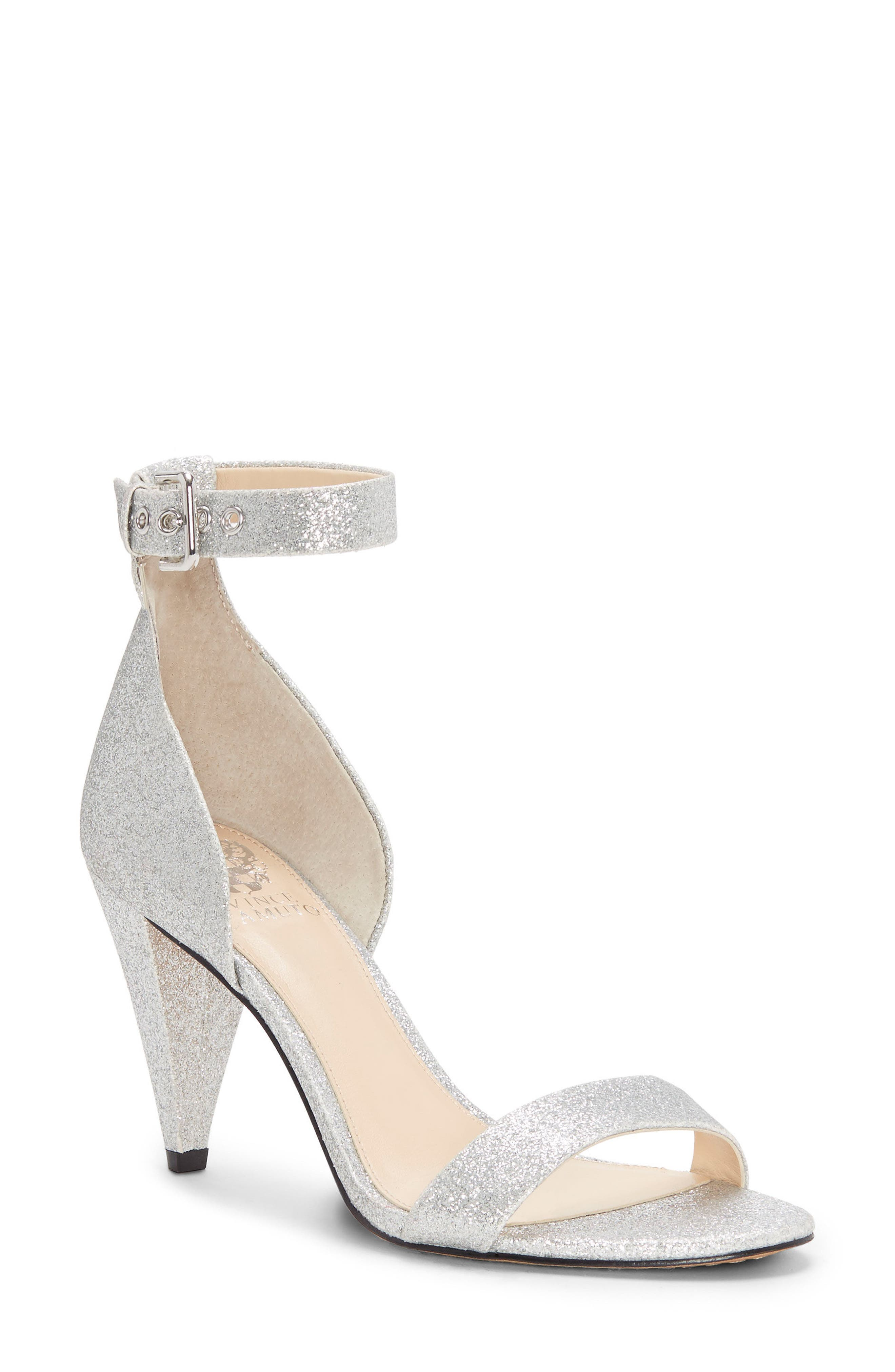 Cashane Sandal,                         Main,                         color, Radiant Silver Fabric
