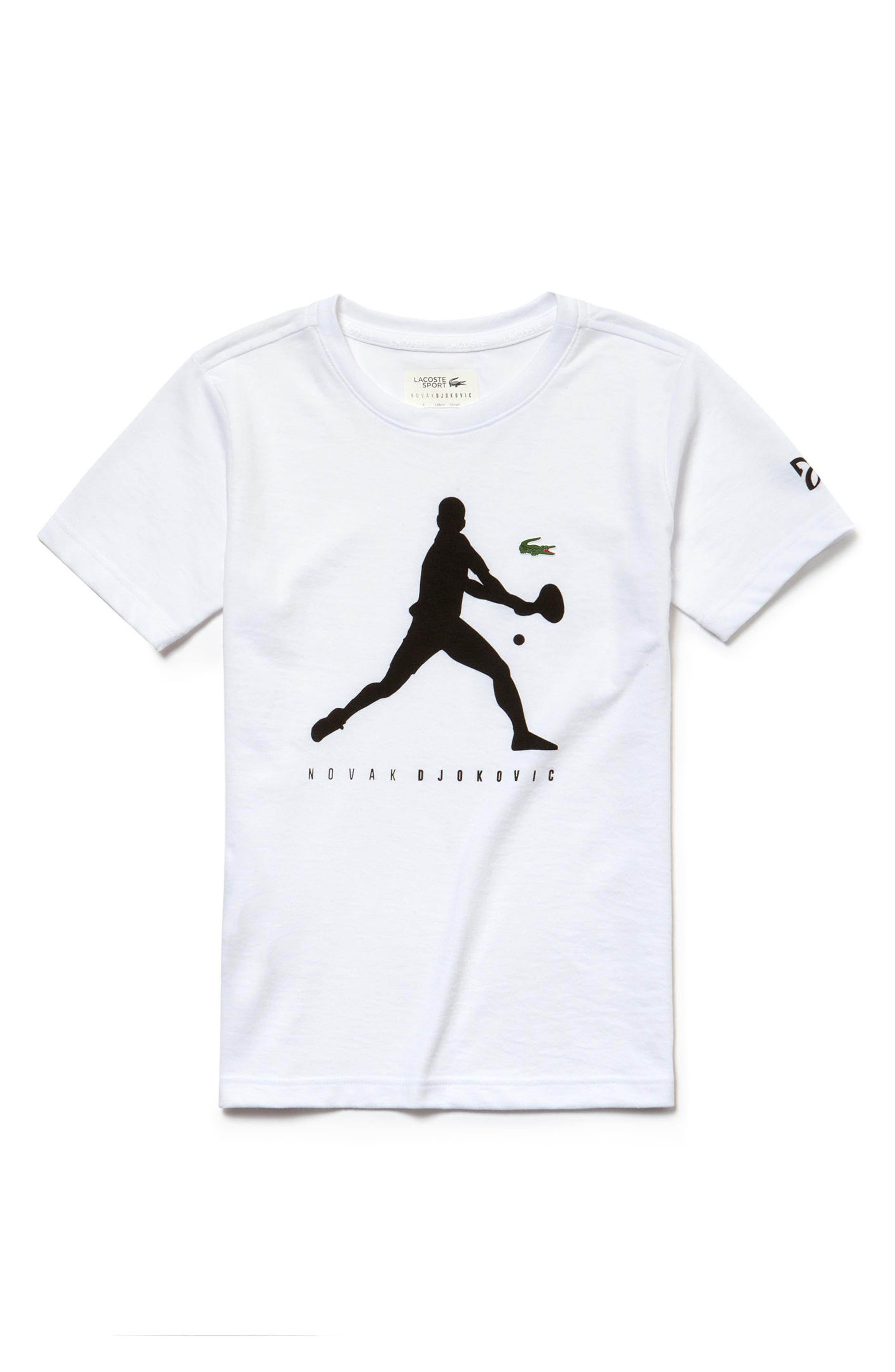 Tech Jersey T-Shirt,                         Main,                         color, White/ Black