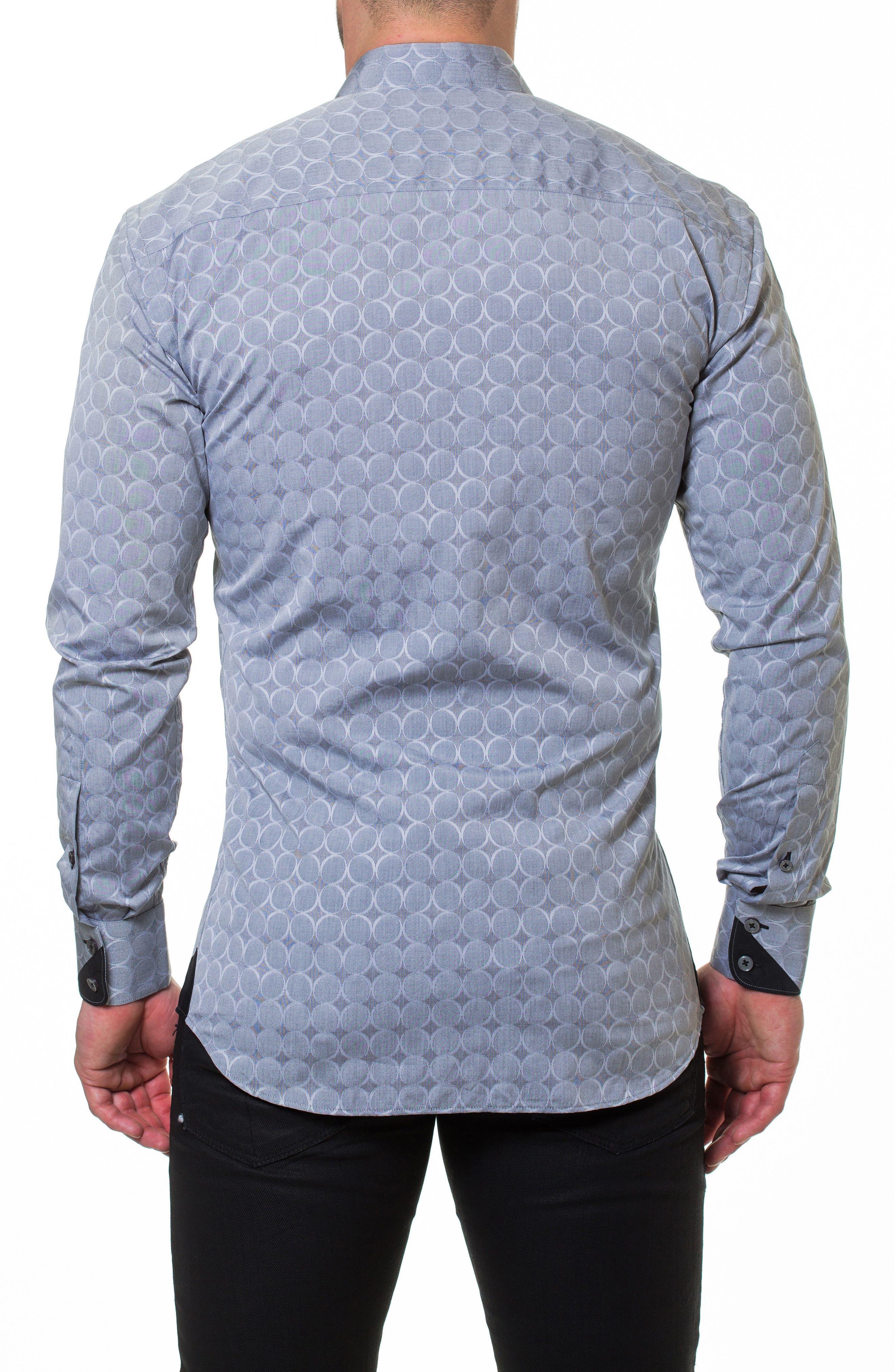 Wall Street Bond Grey Slim Fit Sport Shirt,                             Alternate thumbnail 2, color,                             Grey