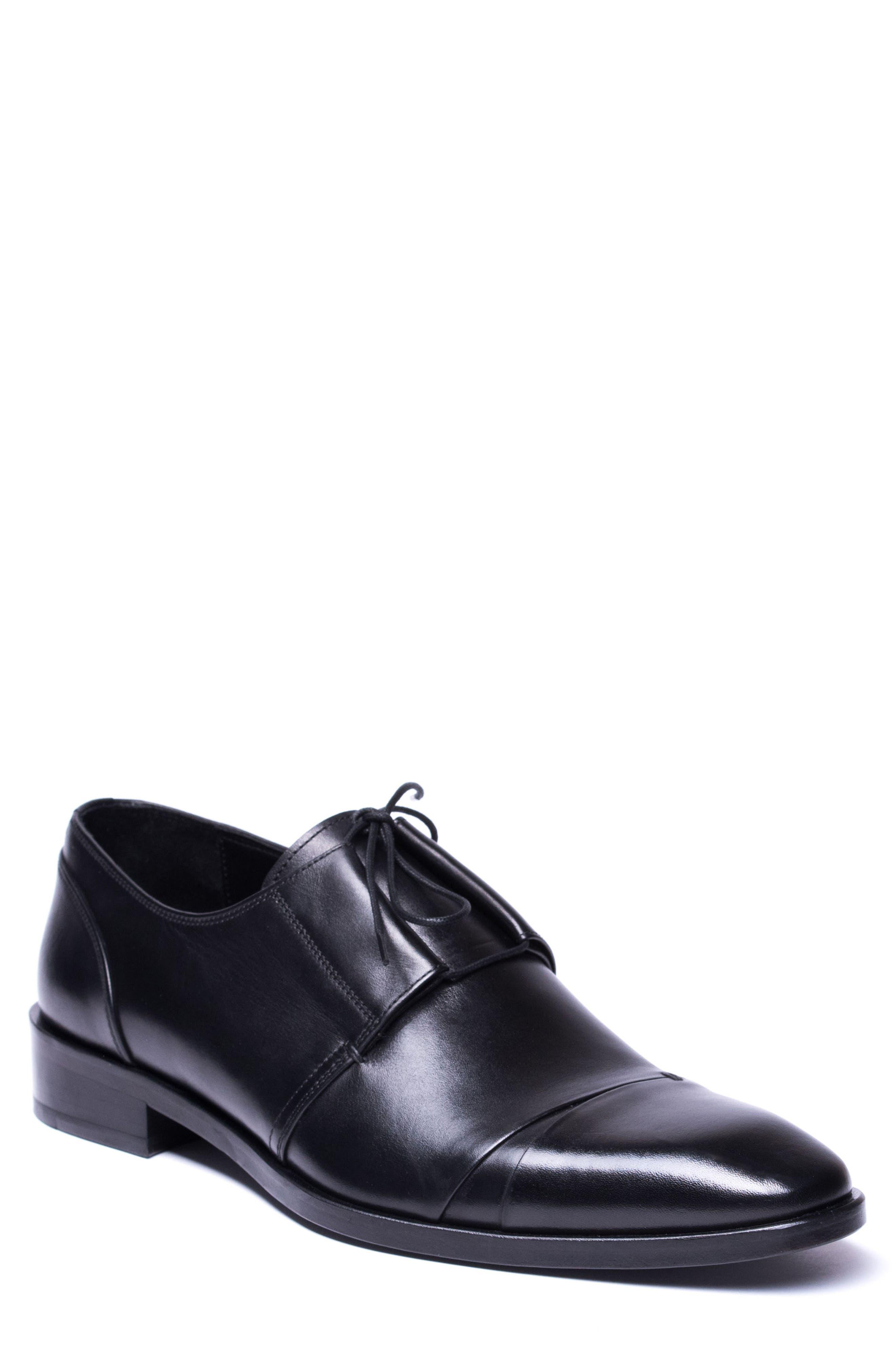 Danny Cap Toe Derby,                             Main thumbnail 1, color,                             Black Leather