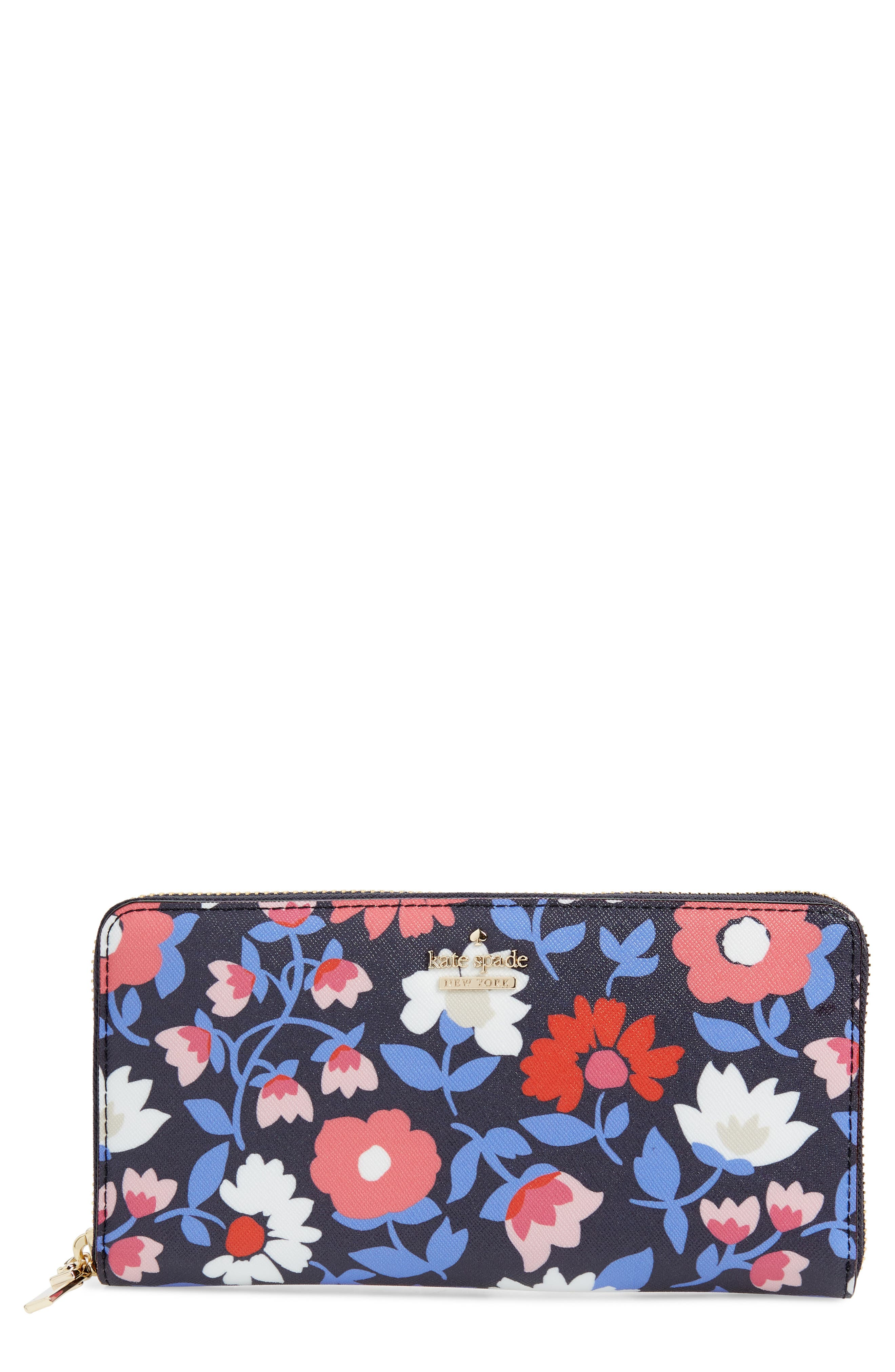 cameron street - daisy lacey zip around wallet,                             Main thumbnail 1, color,                             Multi