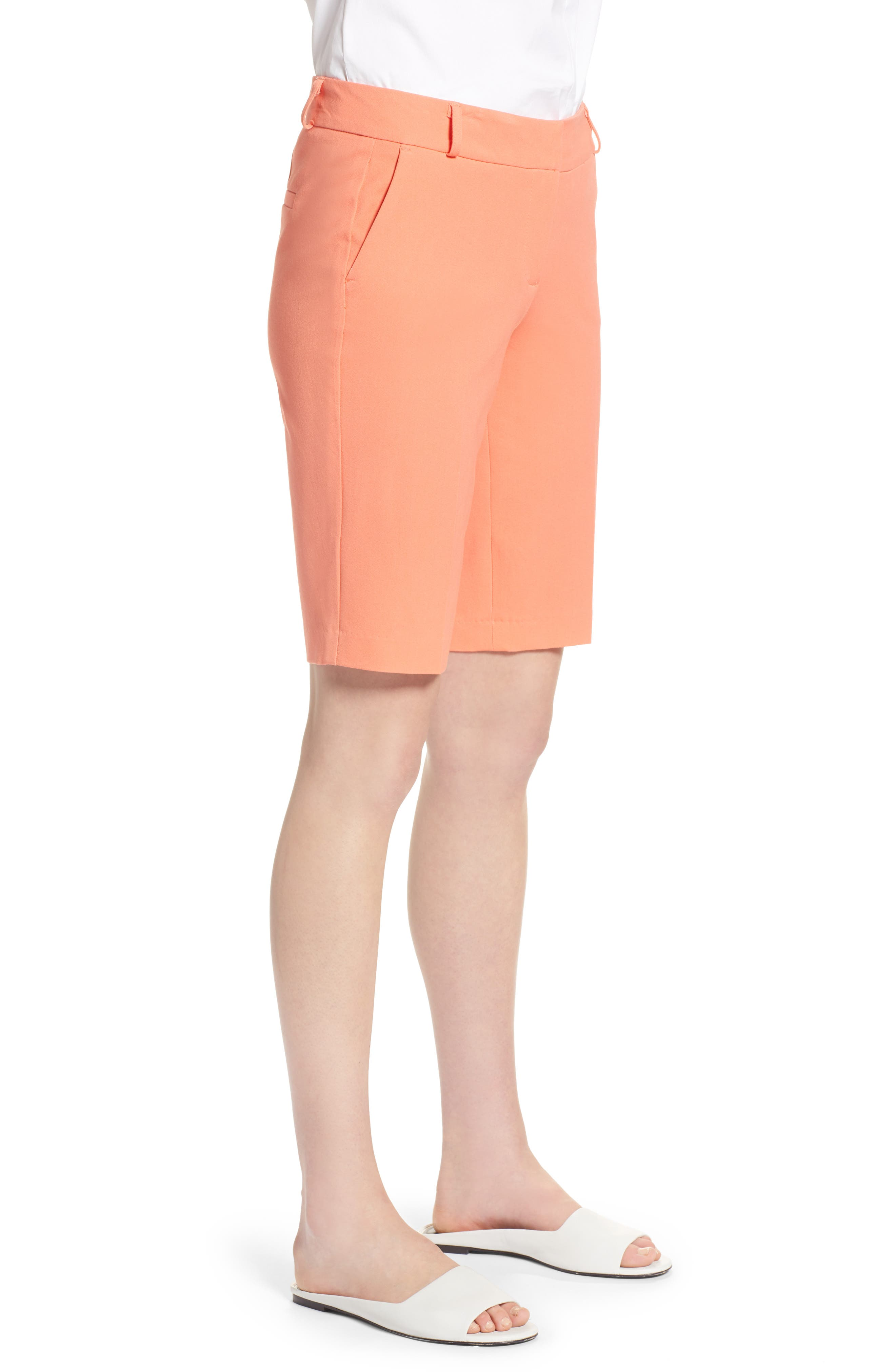 Stretch Bermuda Shorts,                             Alternate thumbnail 3, color,                             Coral Ocean