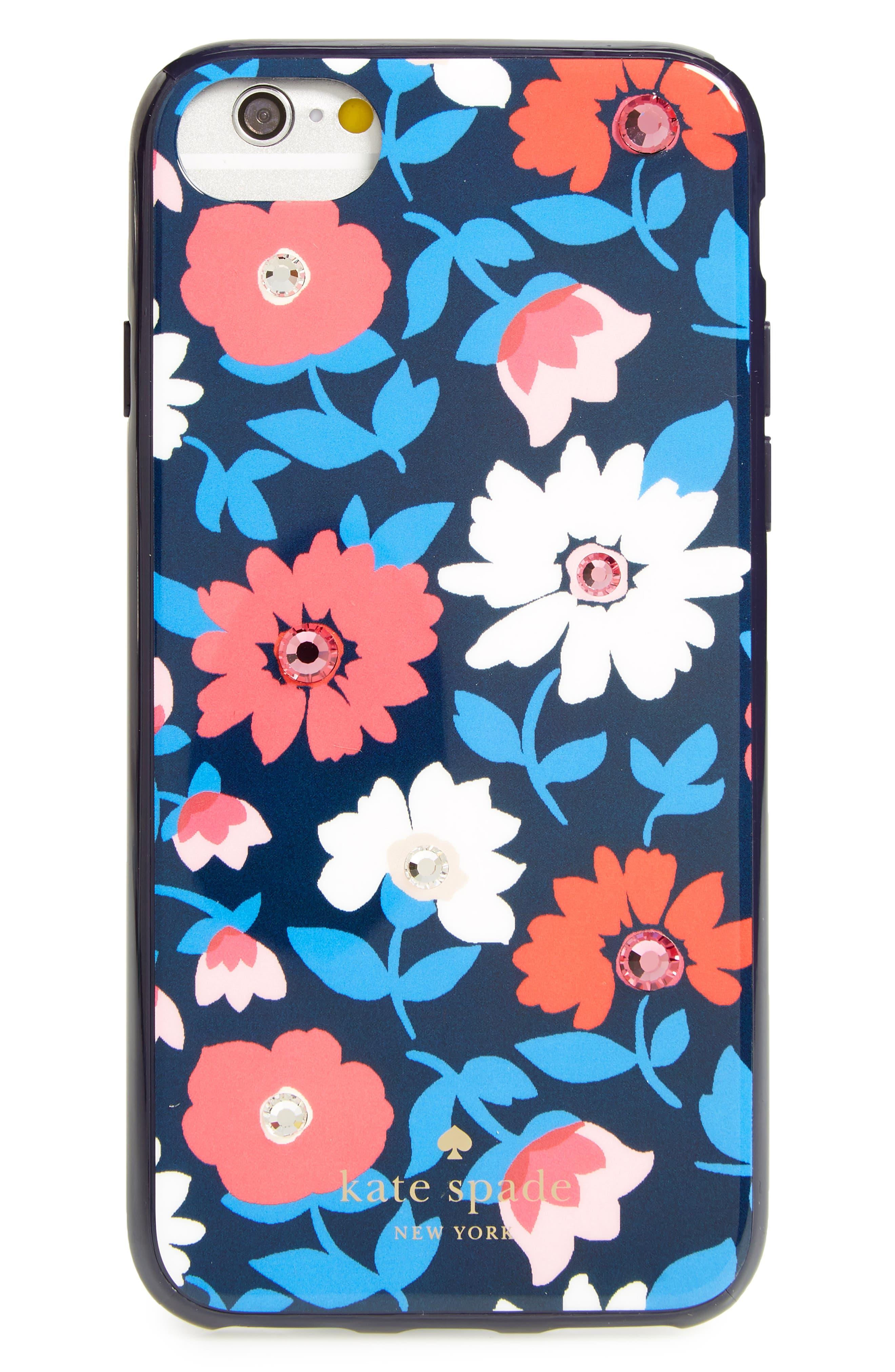 jeweled daisy iPhone 7/8 & 7/8 Plus case,                         Main,                         color, Blue Multi