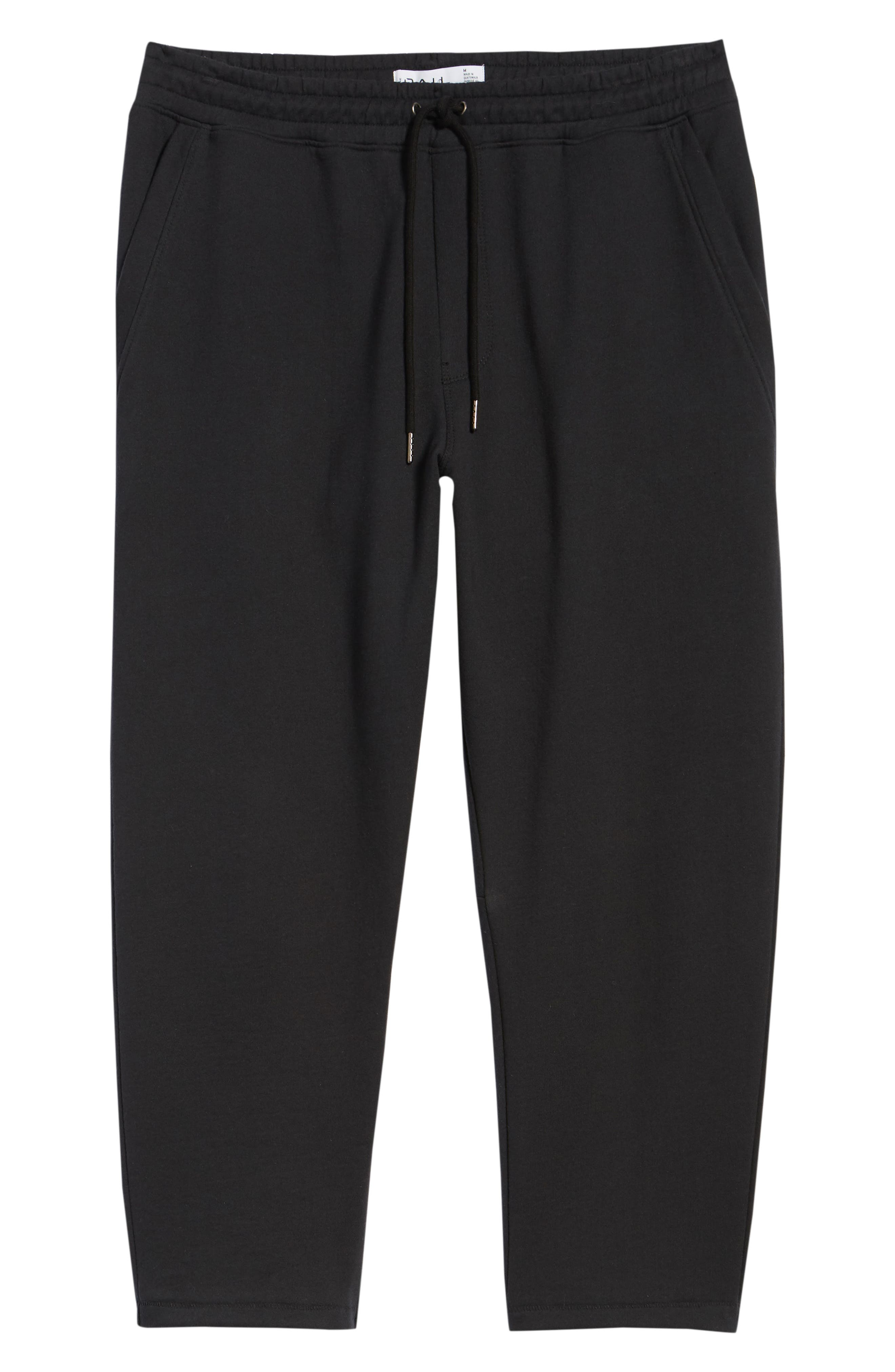 Cropped Sweatpants,                             Alternate thumbnail 6, color,                             Black Rock