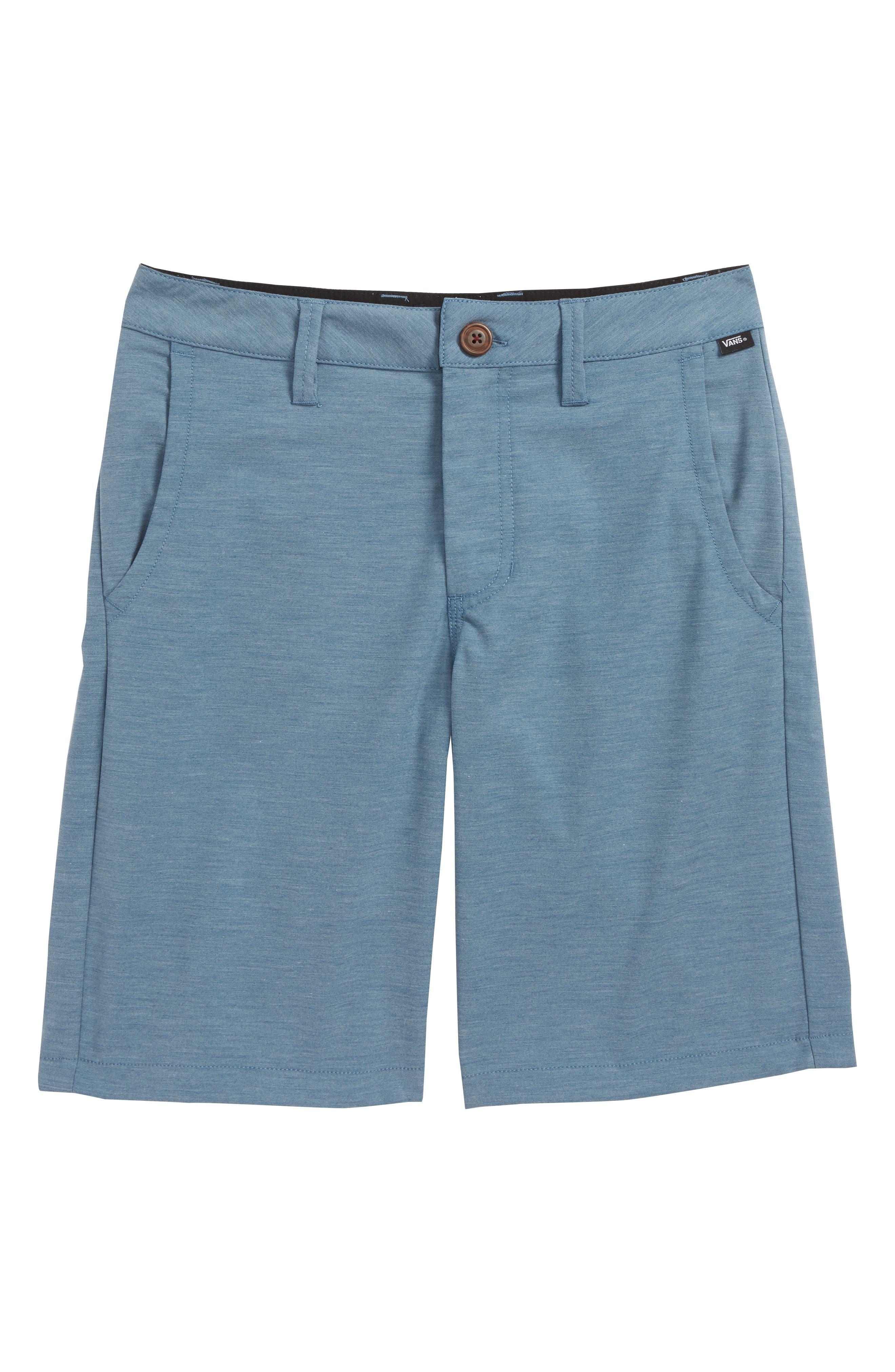 Authentic Decksider Hybrid Shorts,                             Main thumbnail 1, color,                             Copen Blue