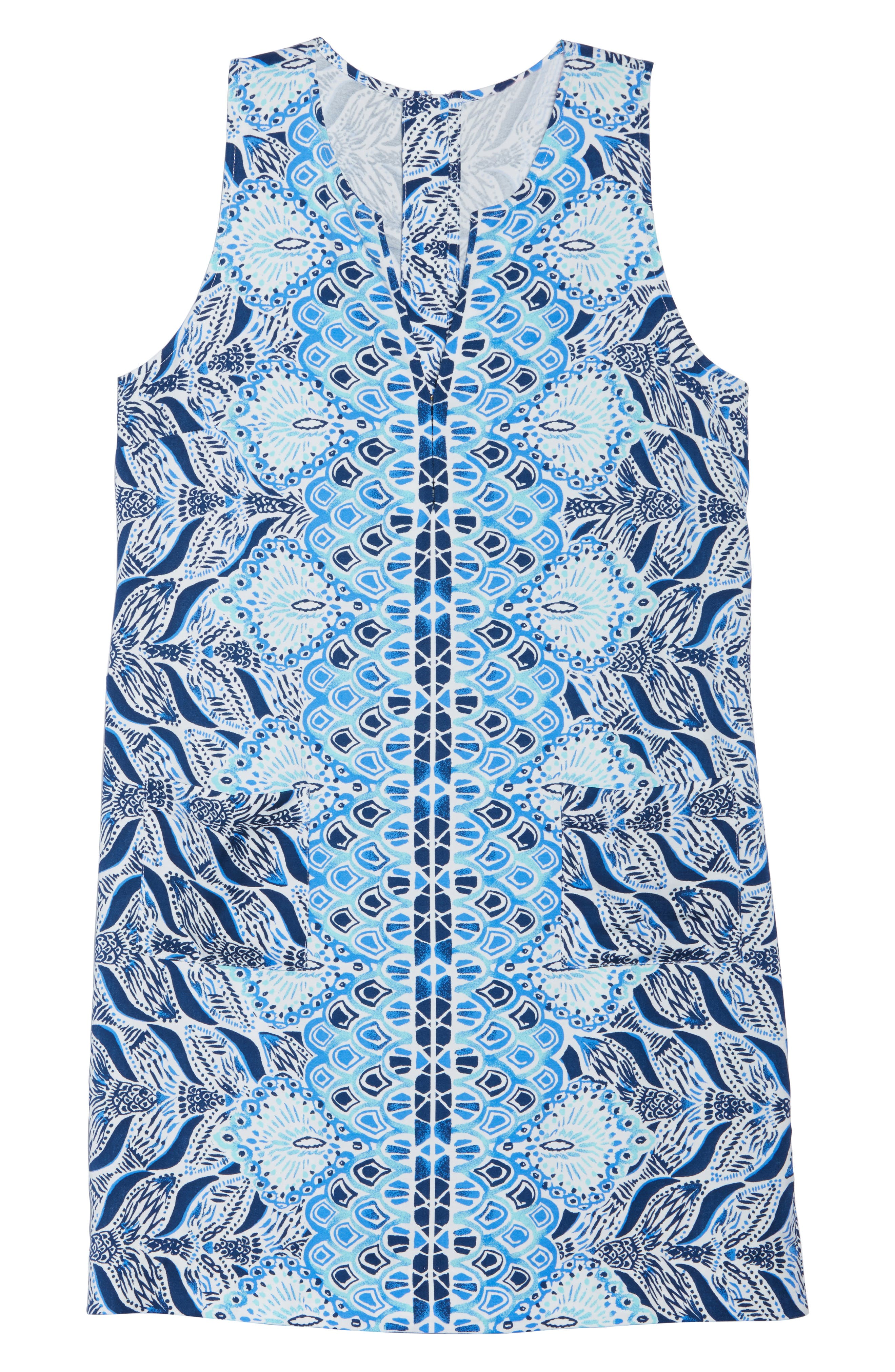 Kelby Shift Dress,                             Alternate thumbnail 6, color,                             Resort White A Mermaids Tail