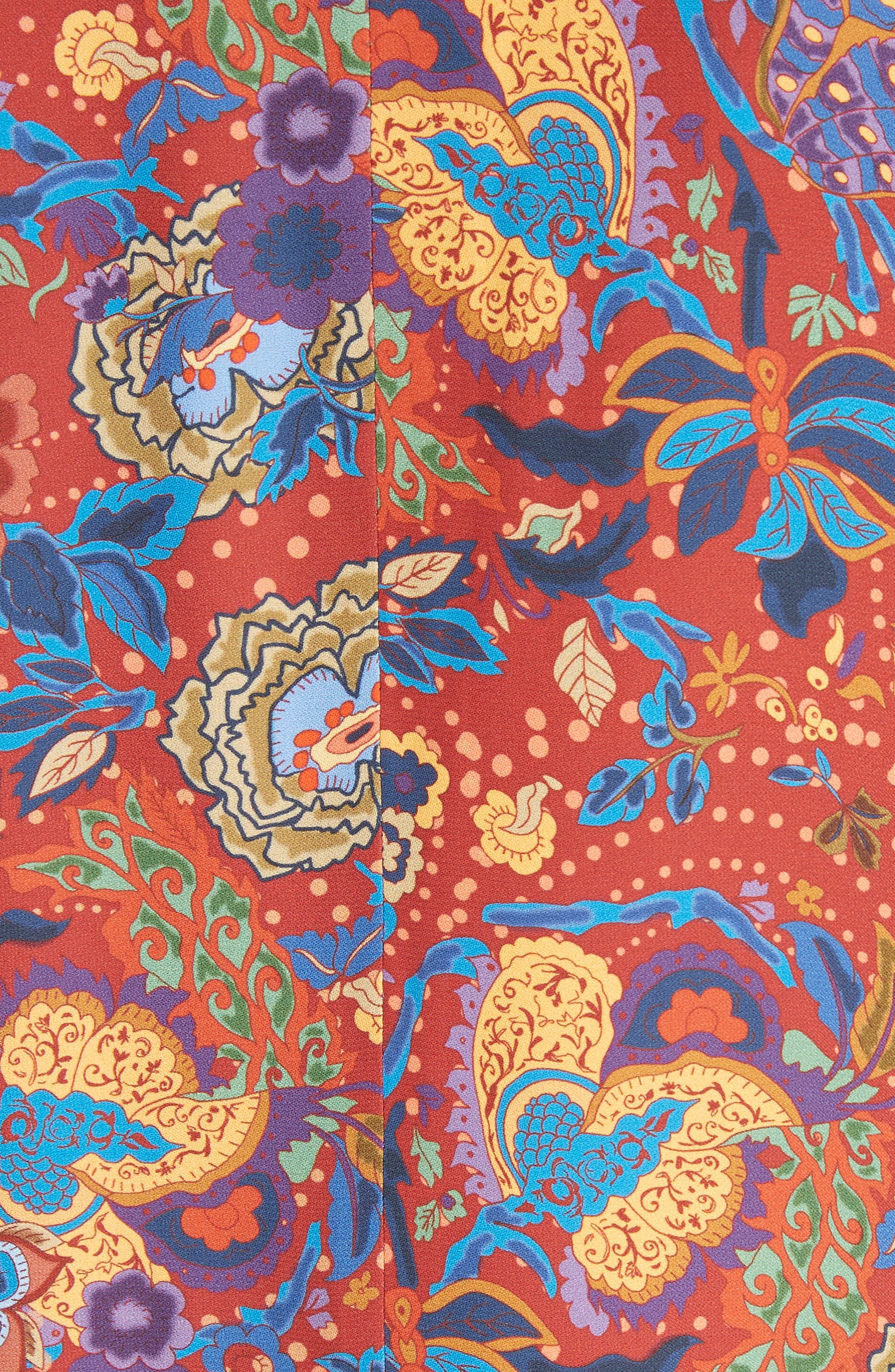Drew Crop Sleeve Kimono,                             Alternate thumbnail 5, color,                             Tangerine