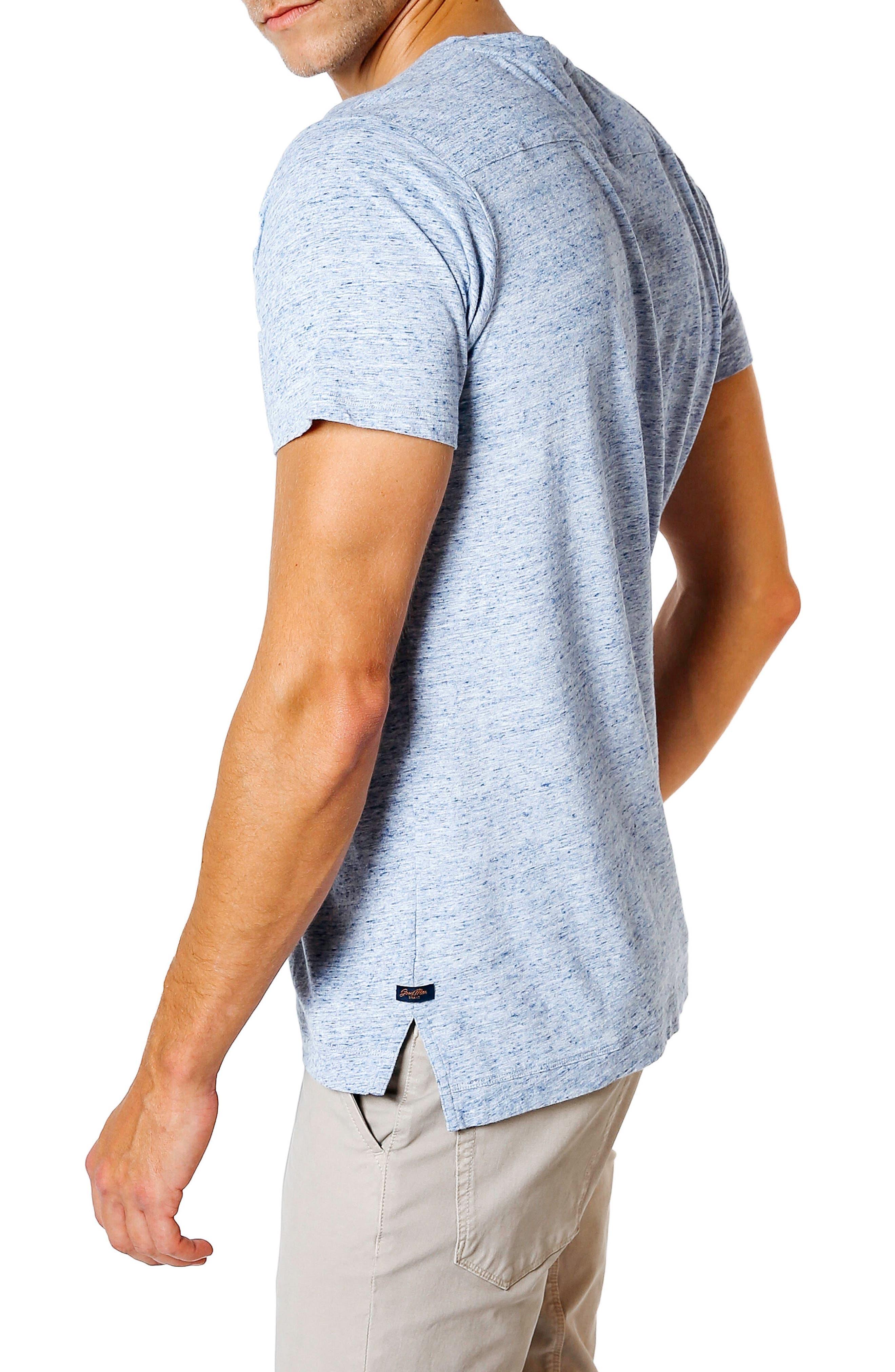 Slim Fit T-Shirt,                             Alternate thumbnail 3, color,                             Blue Heather