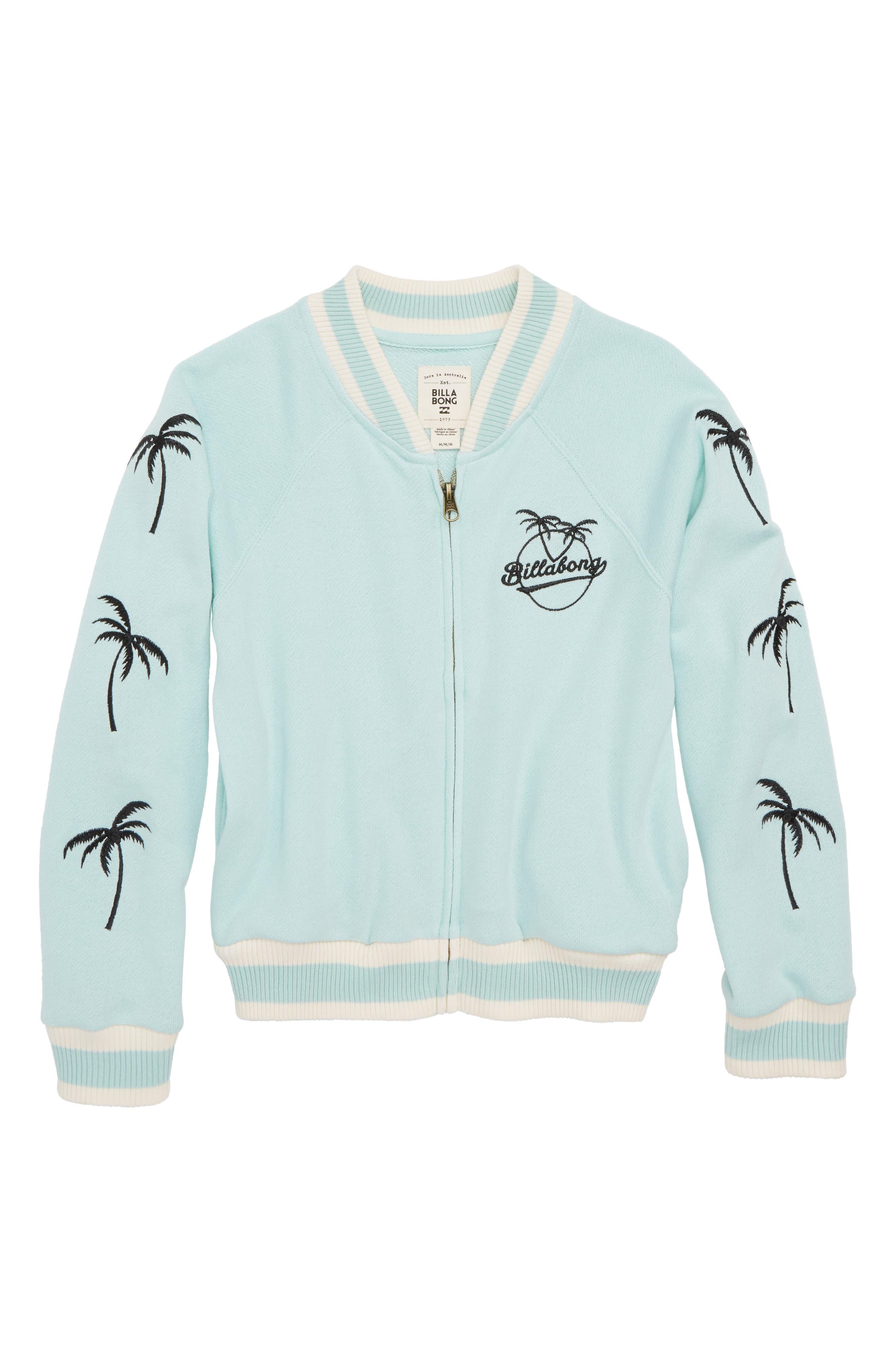 Girls Rule Full Zip Jacket,                         Main,                         color, Beach Glass