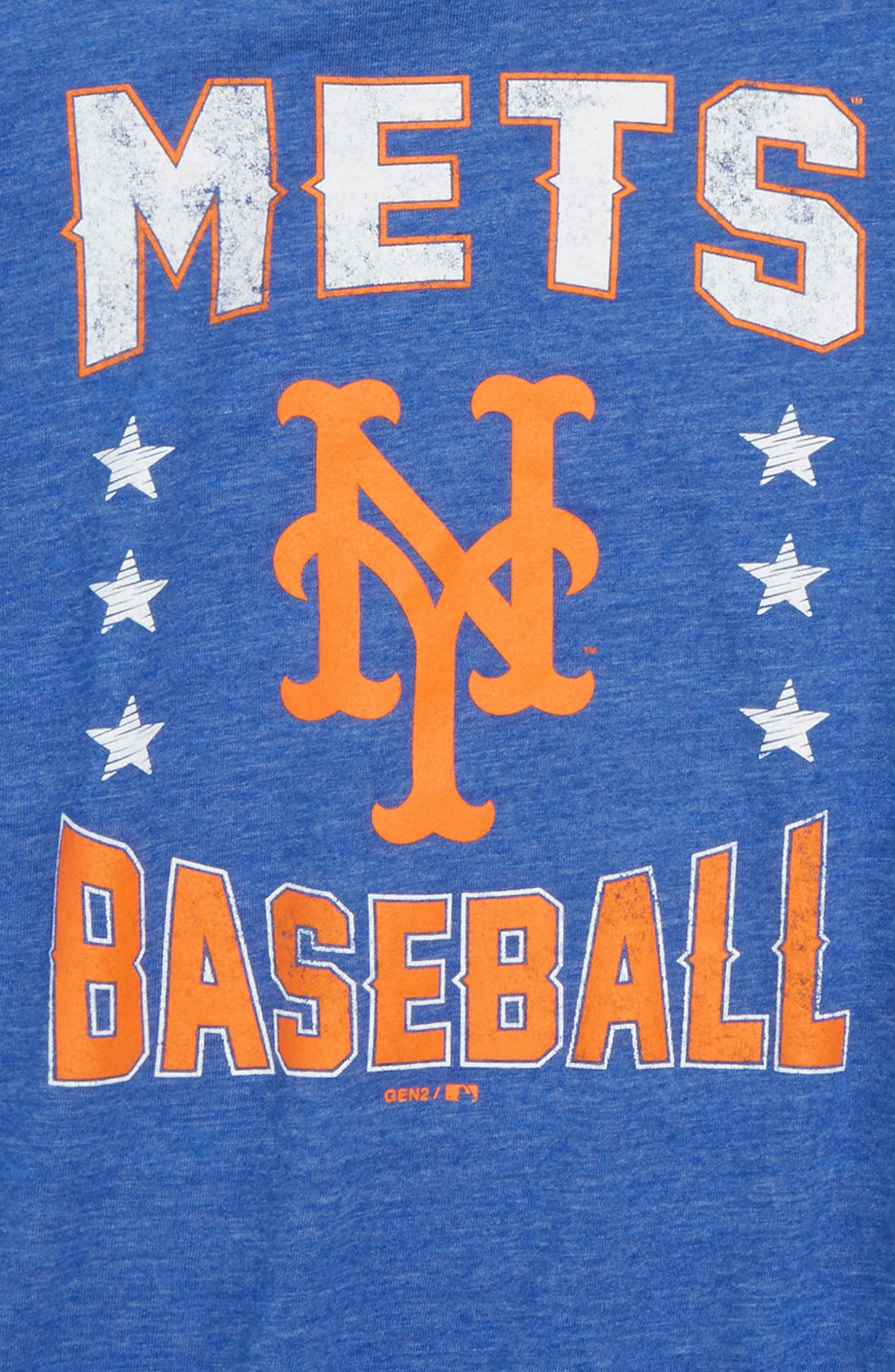 New York Mets Triple Play T-Shirt,                             Alternate thumbnail 2, color,                             Royal