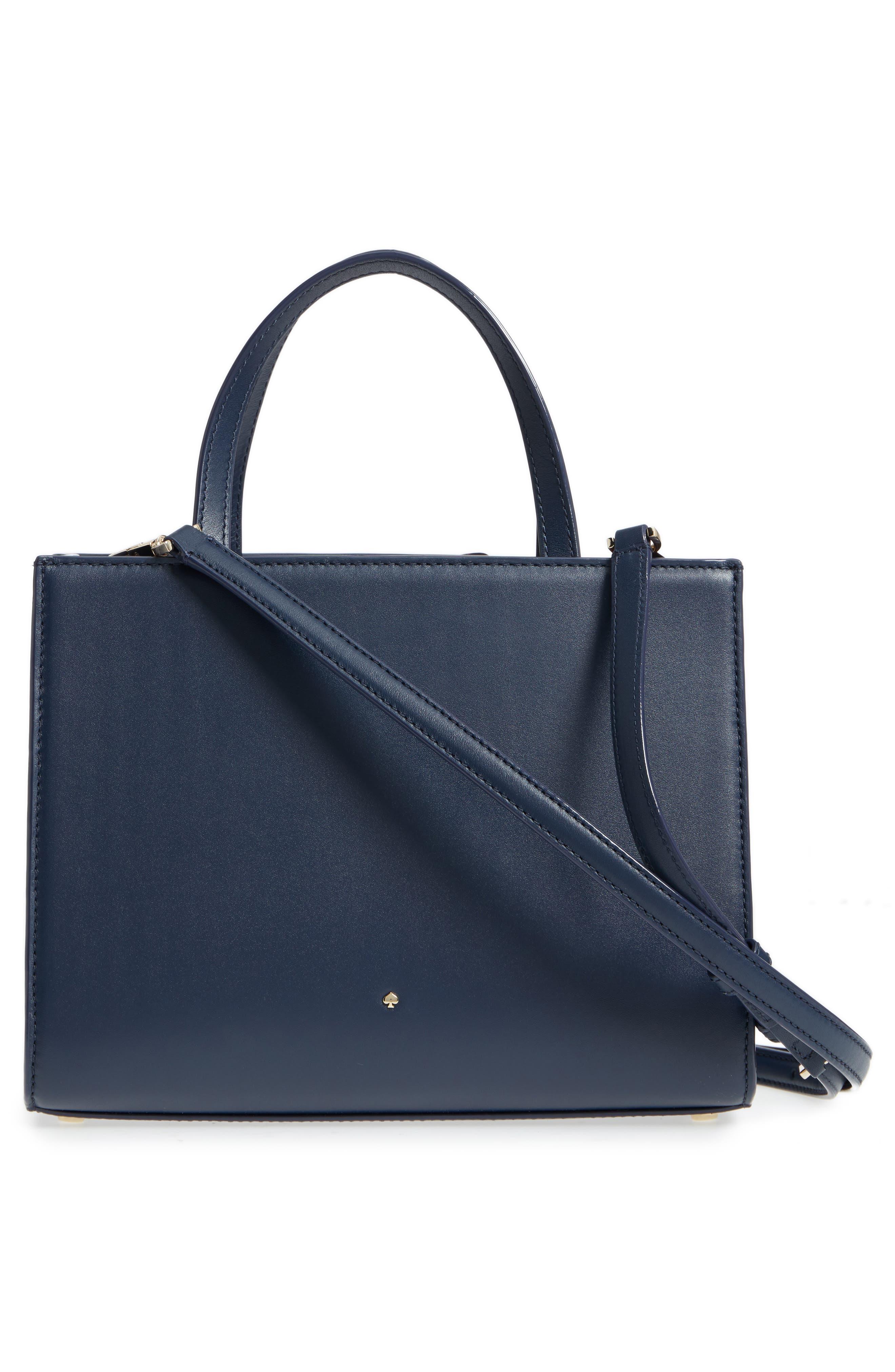 madison daisy lane – sam leather handbag,                             Alternate thumbnail 3, color,                             Blazer Blue Multi