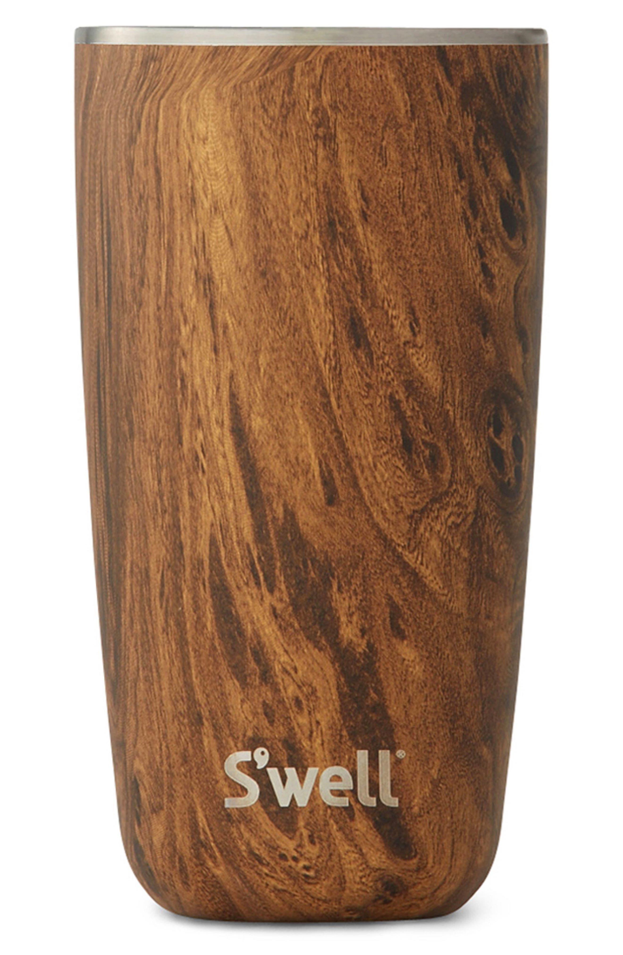 Teakwood 18-Ounce Stainless Steel Insulated Tumbler,                         Main,                         color, Teakwood