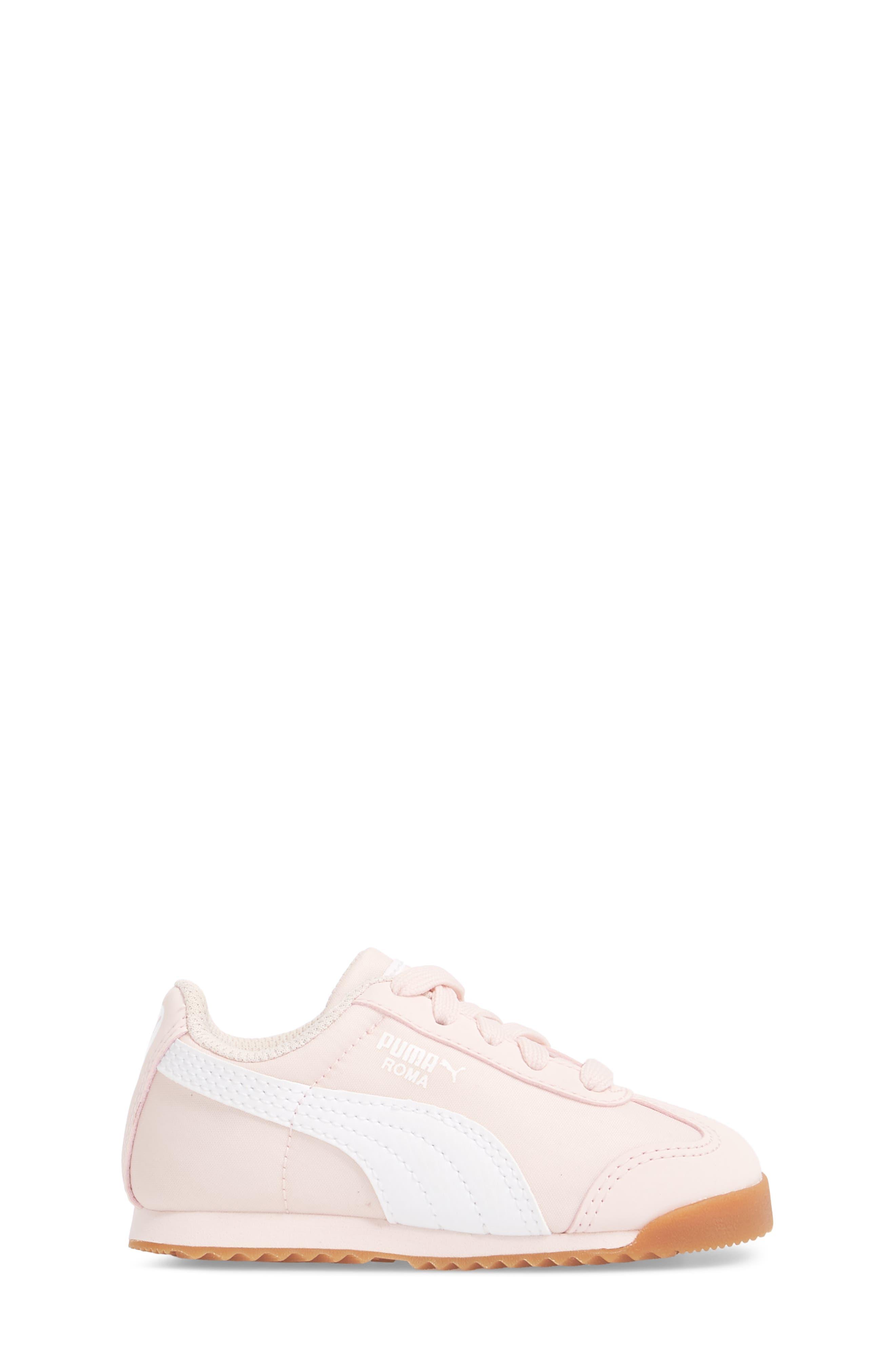 Roma Basic Summer Sneaker,                             Alternate thumbnail 3, color,                             Pearl/ White