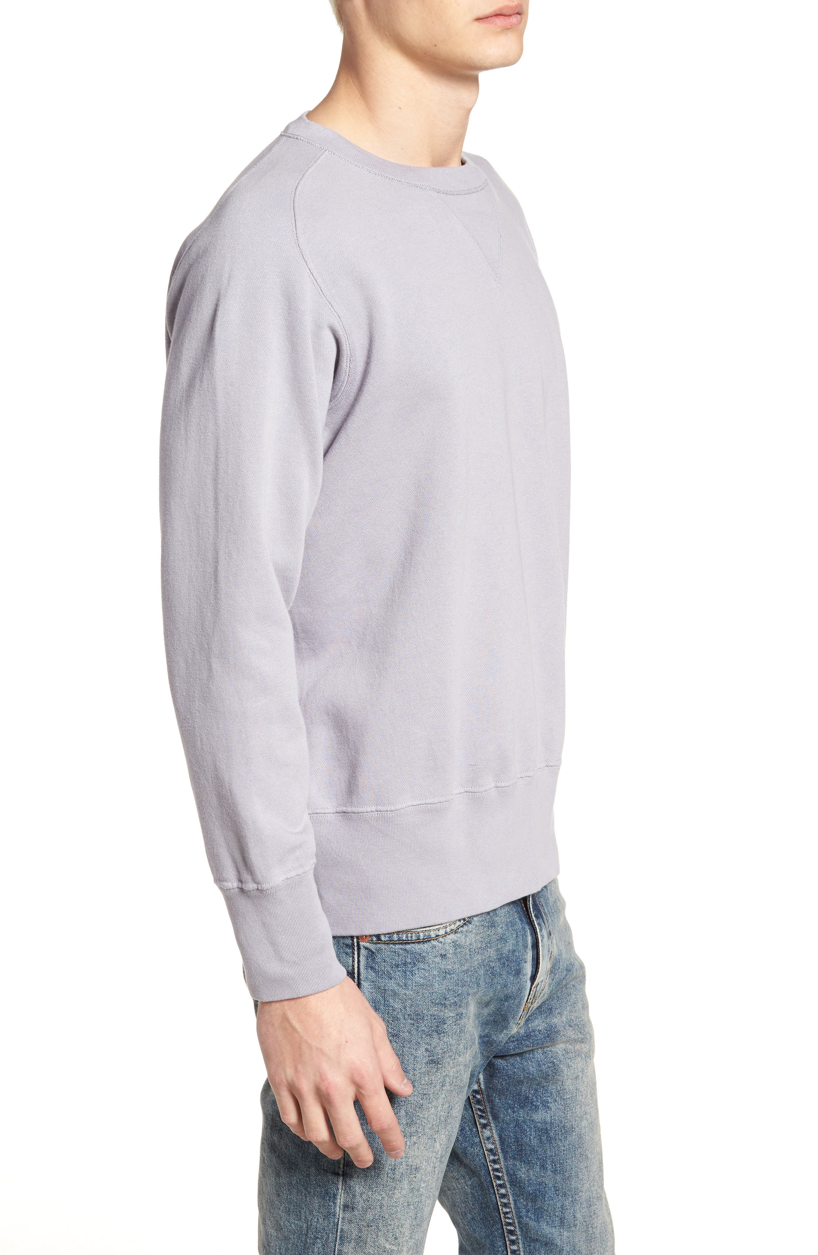 Bay Meadows Sweatshirt,                             Alternate thumbnail 3, color,                             Quiksilver