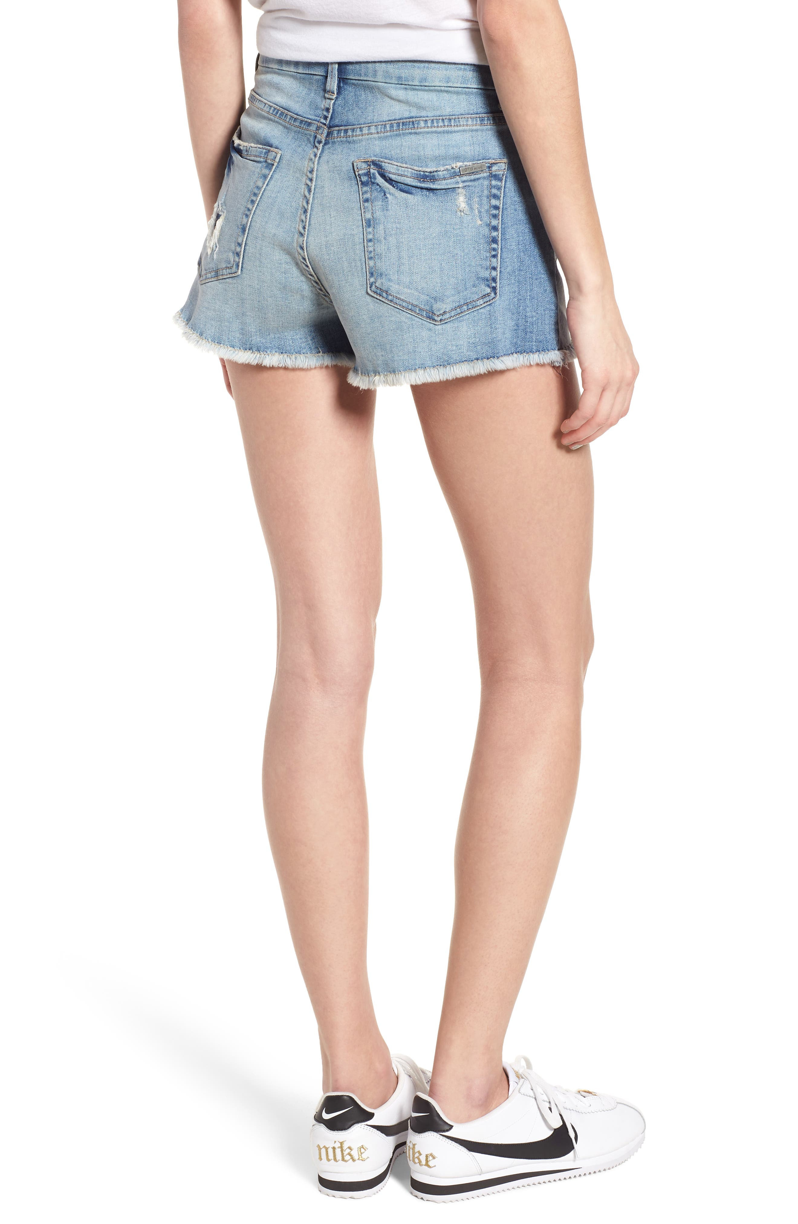 High Waist Boyfriend Shorts,                             Alternate thumbnail 2, color,                             Sundance