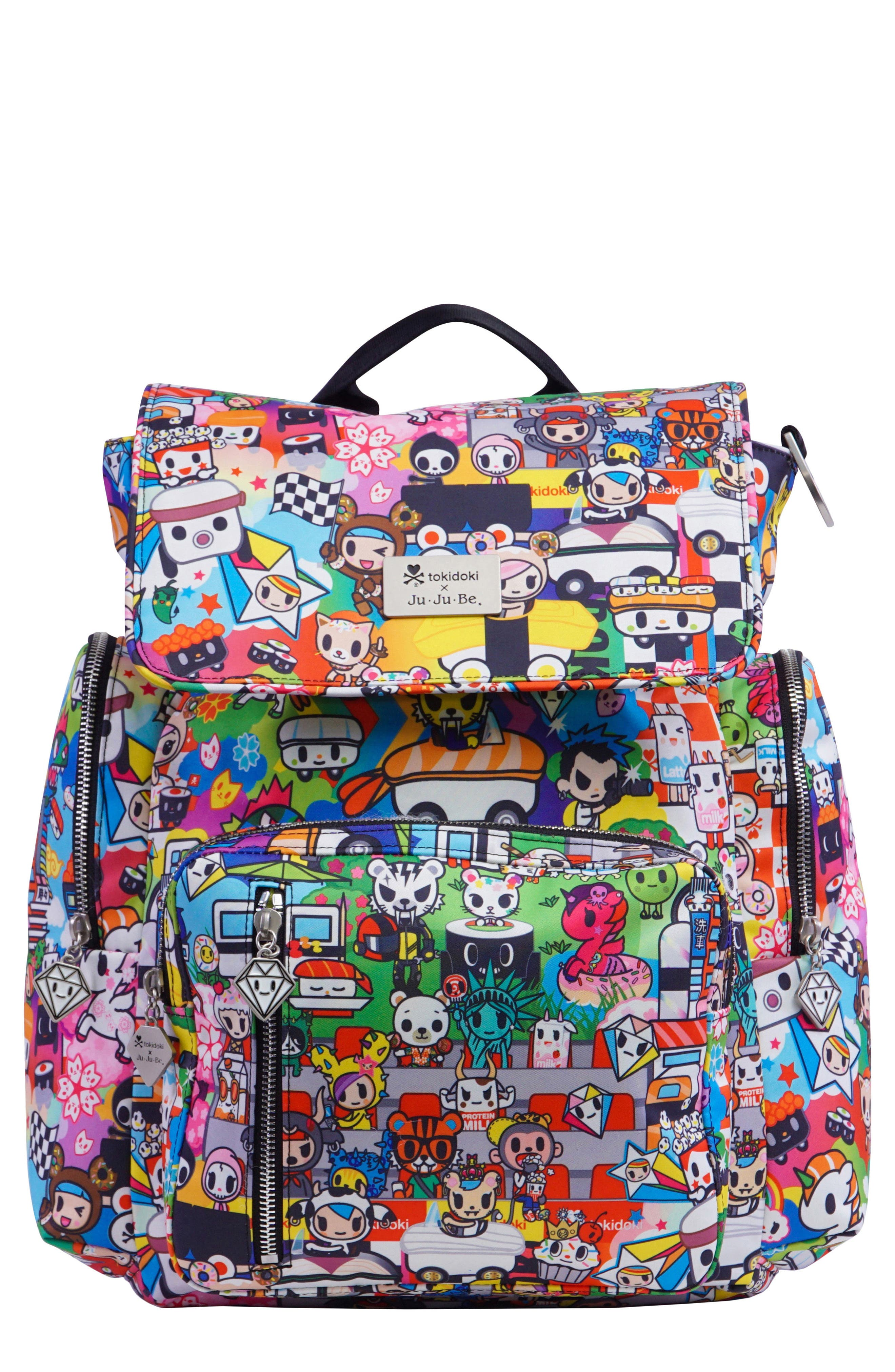 x tokidoki Be Sporty Diaper Backpack,                             Main thumbnail 1, color,                             Sushi Cars