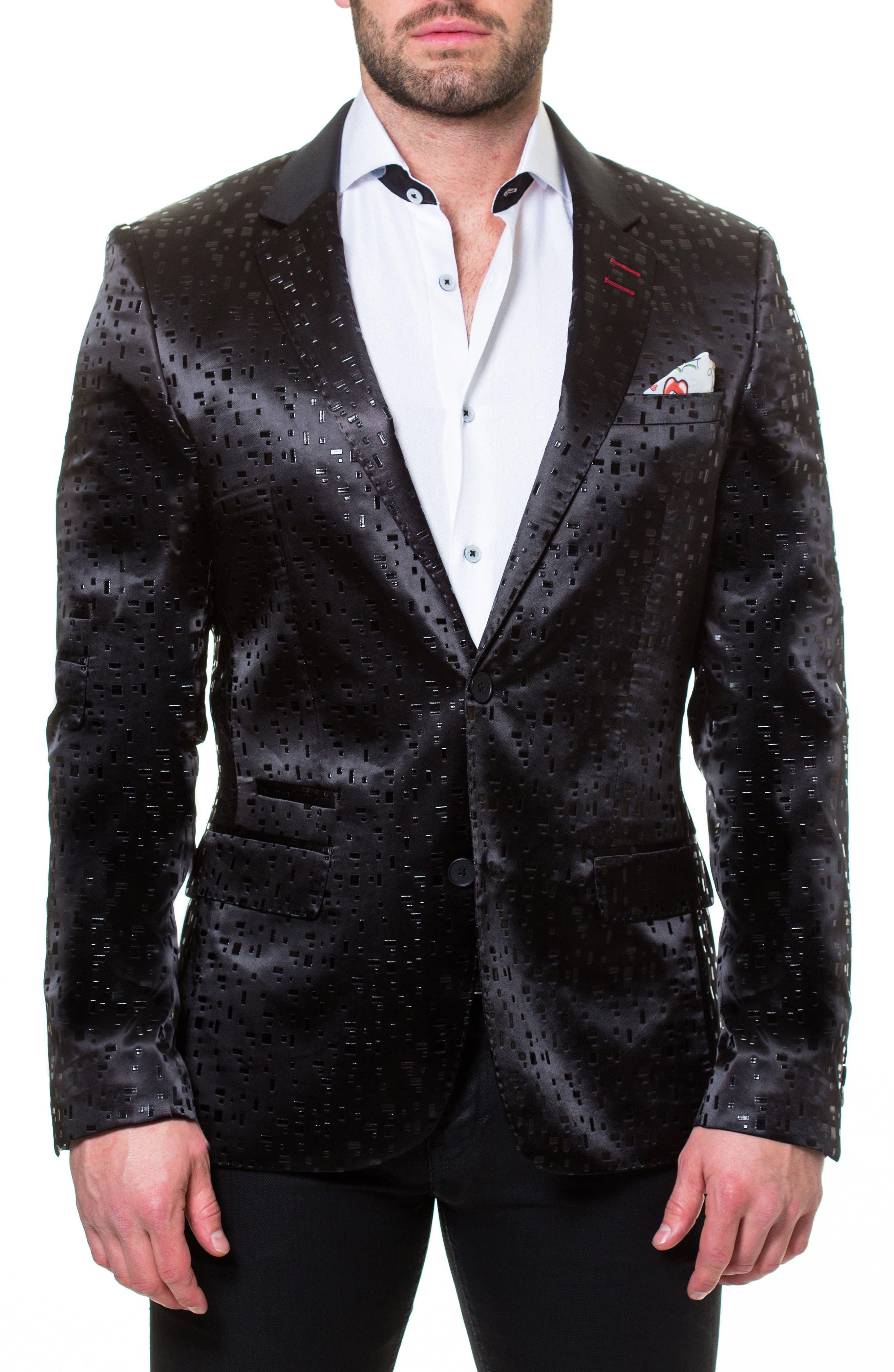Socrate Blocks Sport Coat,                         Main,                         color, Black
