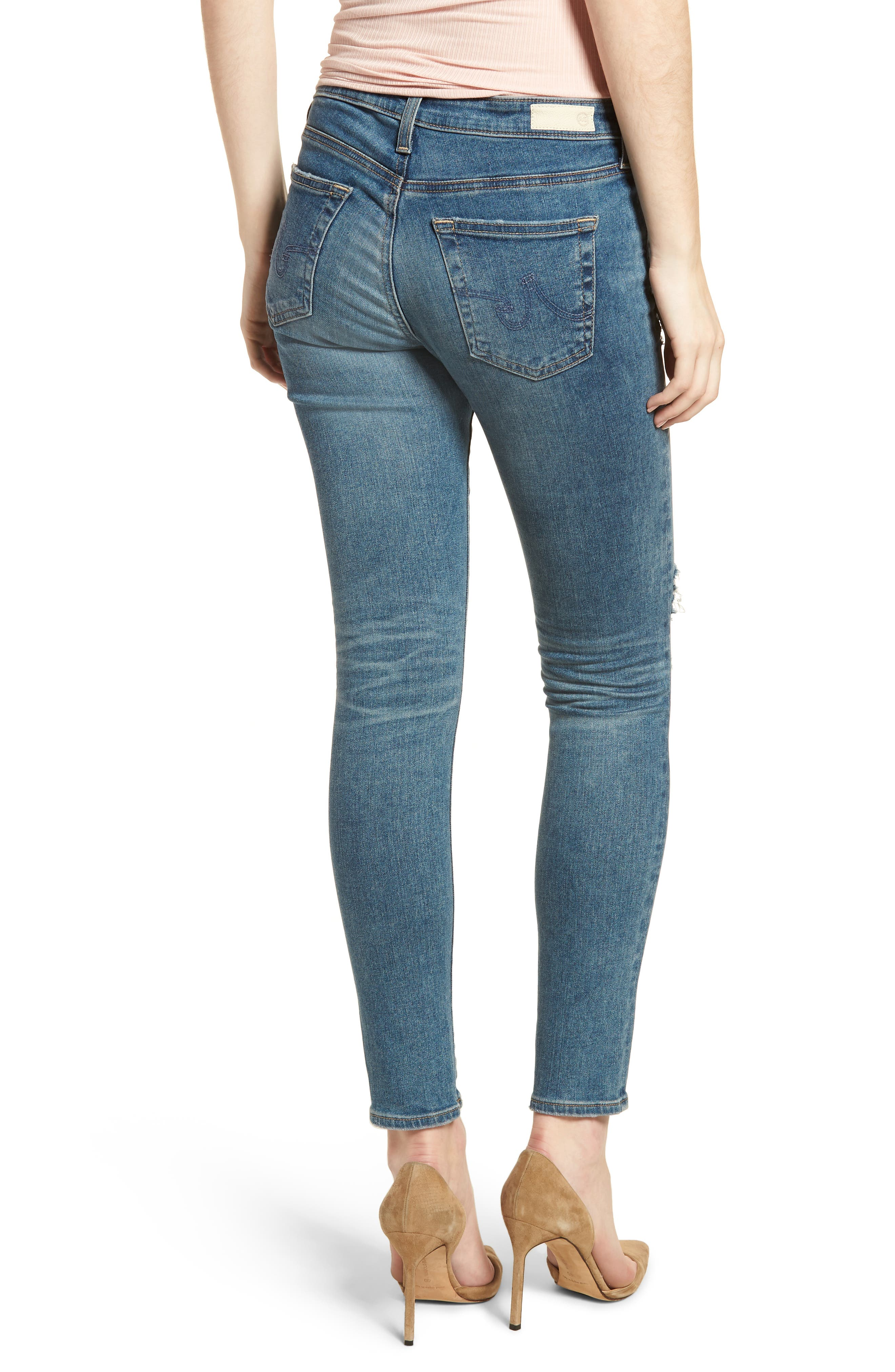 The Legging Ankle Super Skinny Jeans,                             Alternate thumbnail 2, color,                             13 Years Pacifica Destructed