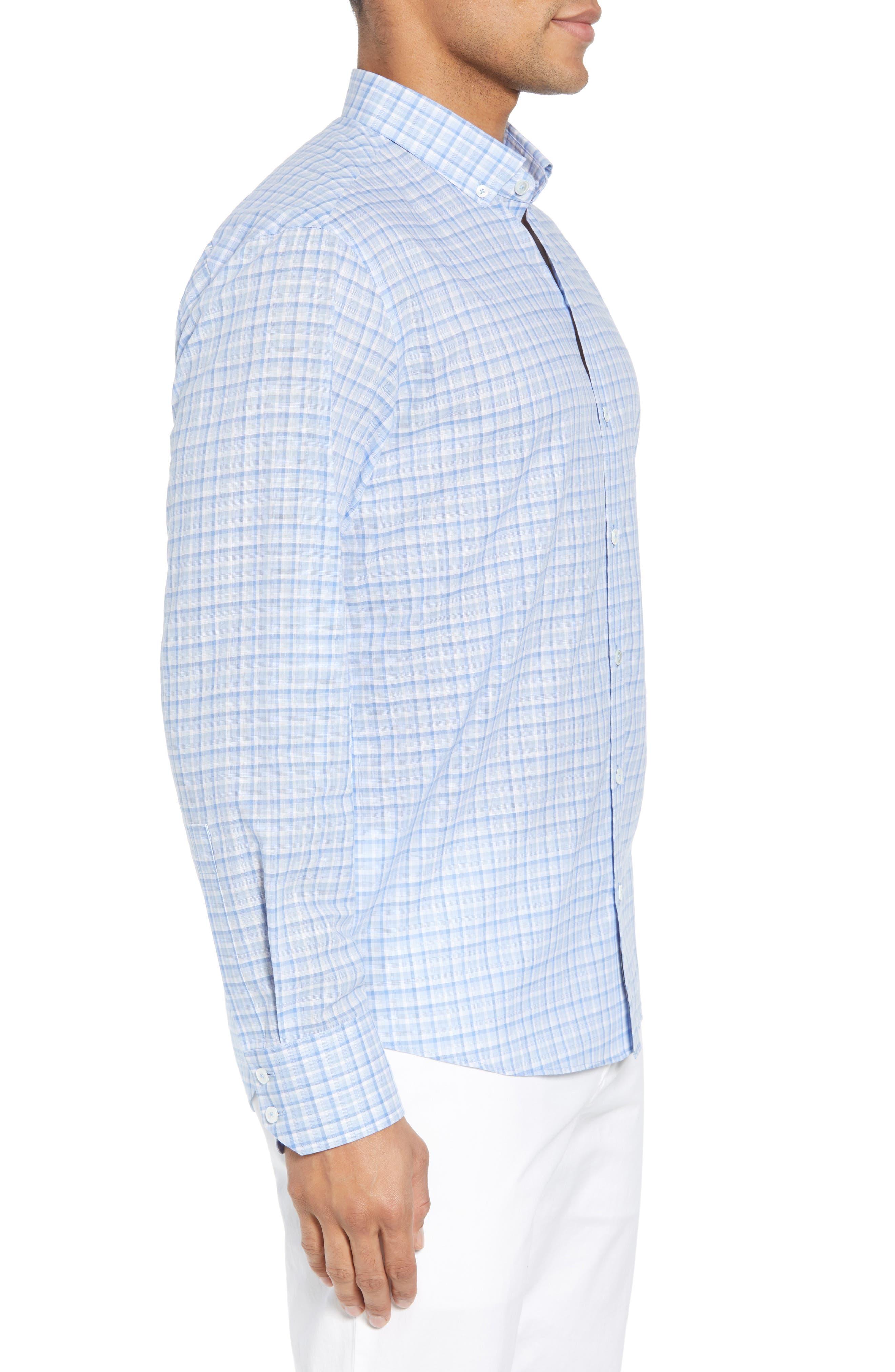 Jian Regular Fit Sport Shirt,                             Alternate thumbnail 3, color,                             Sky