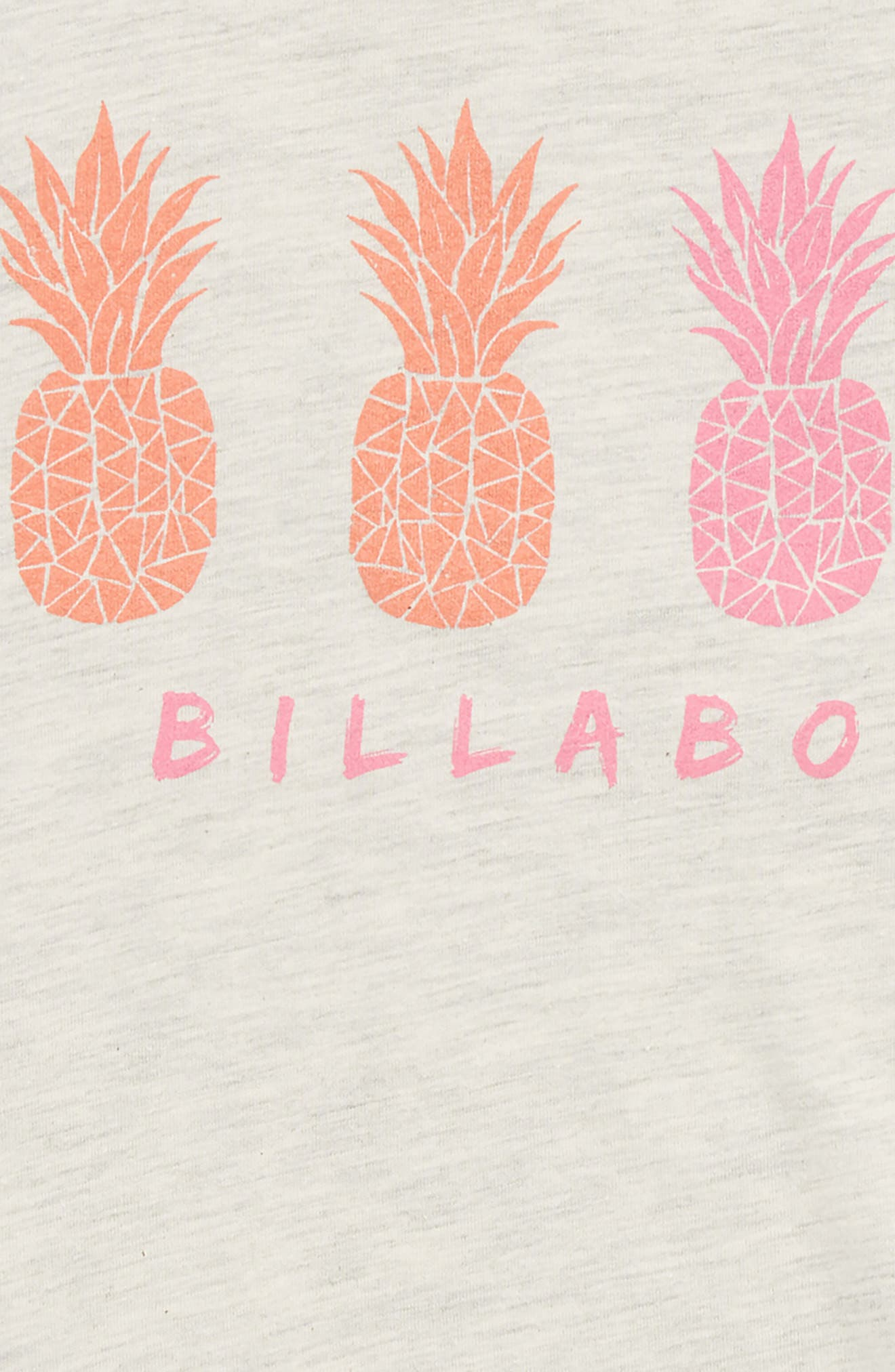 Tropical Pineapples Tee,                             Alternate thumbnail 2, color,                             Ice Athletic Grey