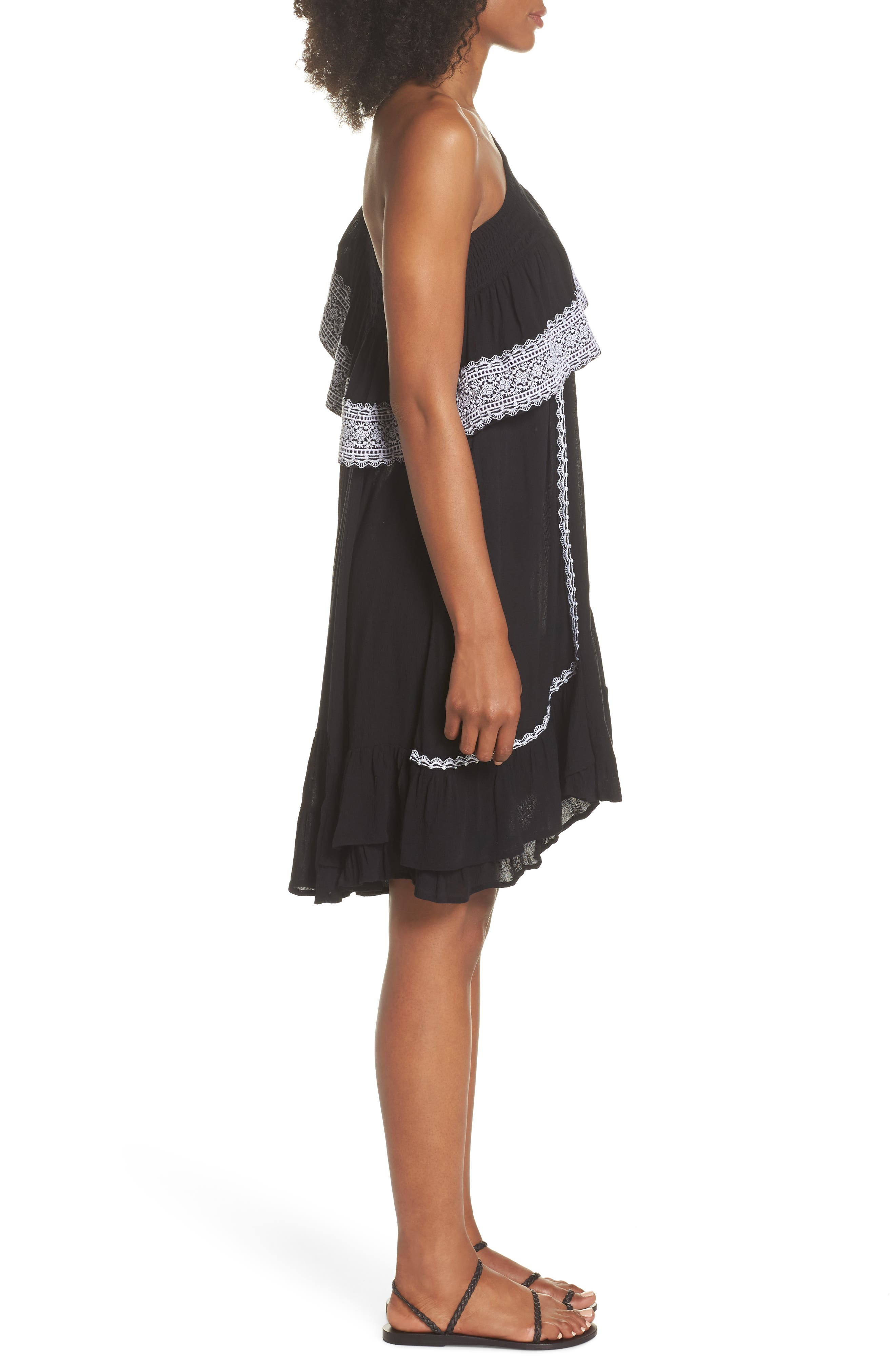 Alternate Image 3  - Muche et Muchette Gavin One-Shoulder Cover-Up Dress