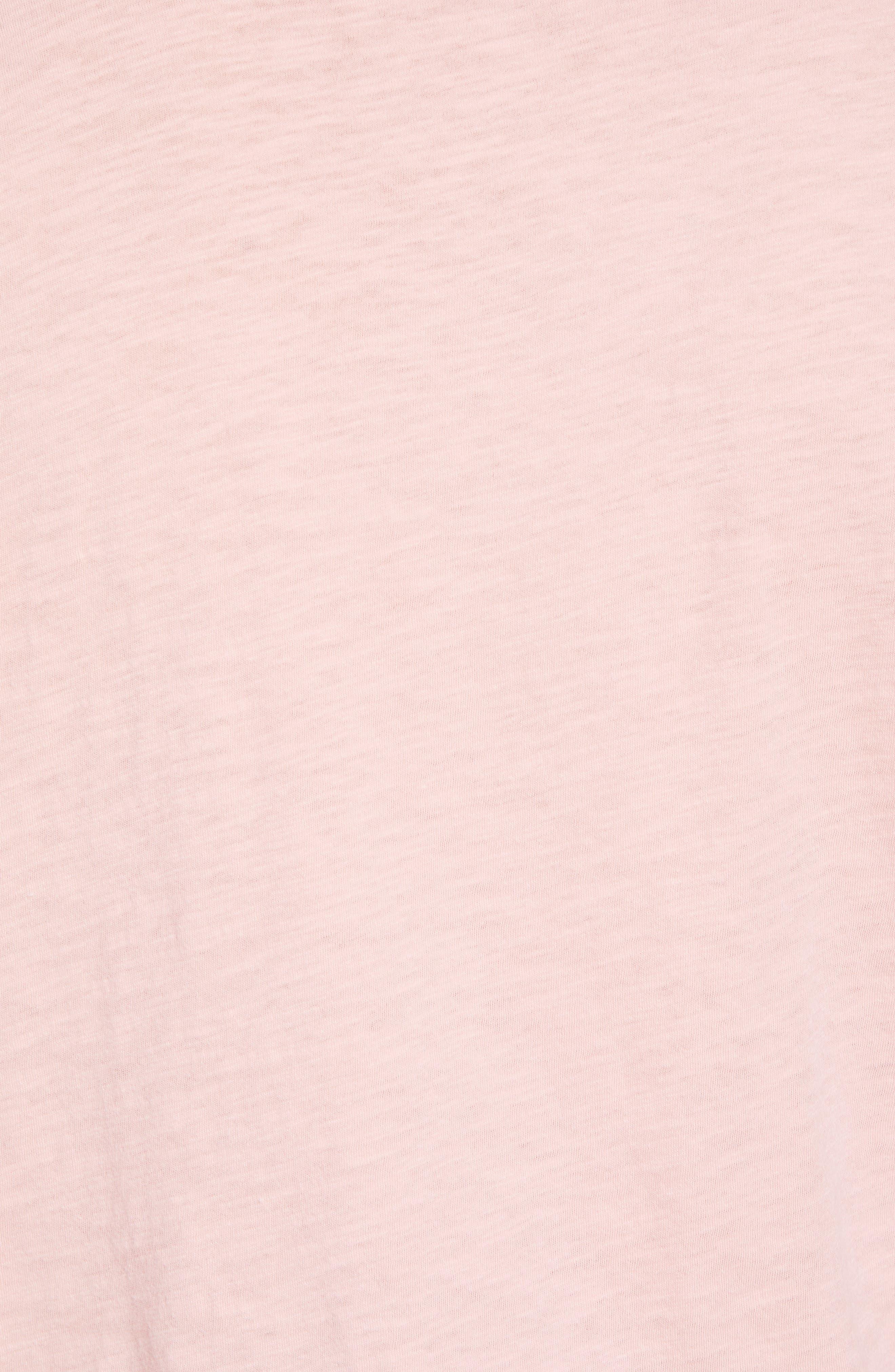 Stoked Slub T-Shirt,                             Alternate thumbnail 5, color,                             Pink Stoked